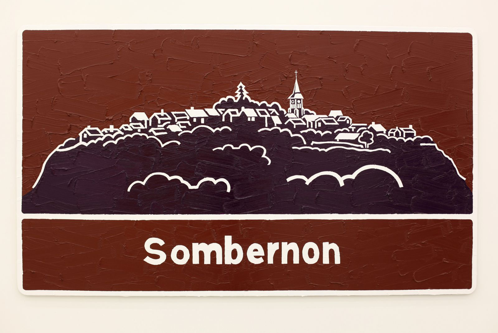 """Sombernon"", 2016 de Bertrand LAVIER - Courtesy Galerie Almine Rech © Photo Éric Simon"