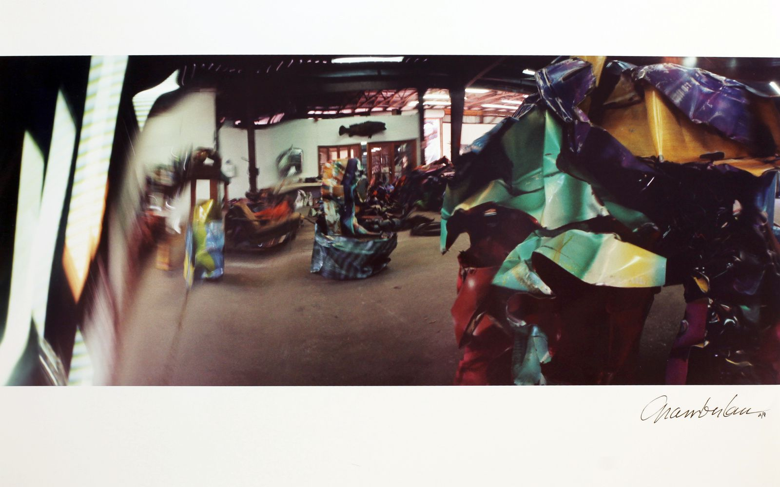 """Studio"",  1994  de John CHAMBERLAIN - Courtesy Galerie Karsten Greve Paris  © Photo Éric Simon"