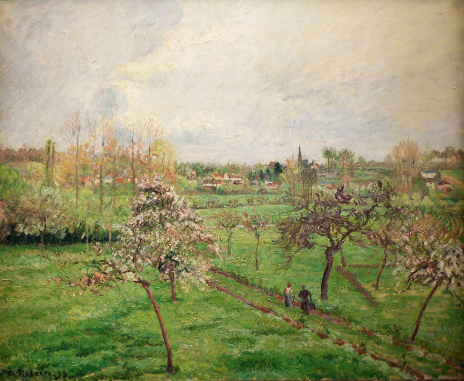 """""""Après-midi de printemps, temps gris, Éragny"""", 1898  de Camille PISSARRO - Courtesy Collection Privée © Éric Simon"""