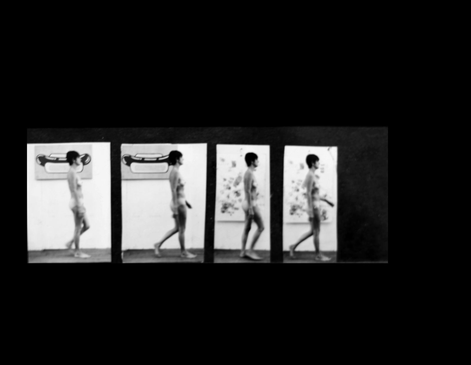 """Study Woman Walking Muybridge plate 136"", 1967 de STURTEVANT - Courtesy Galerie Ropac © Photo Éric Simon"