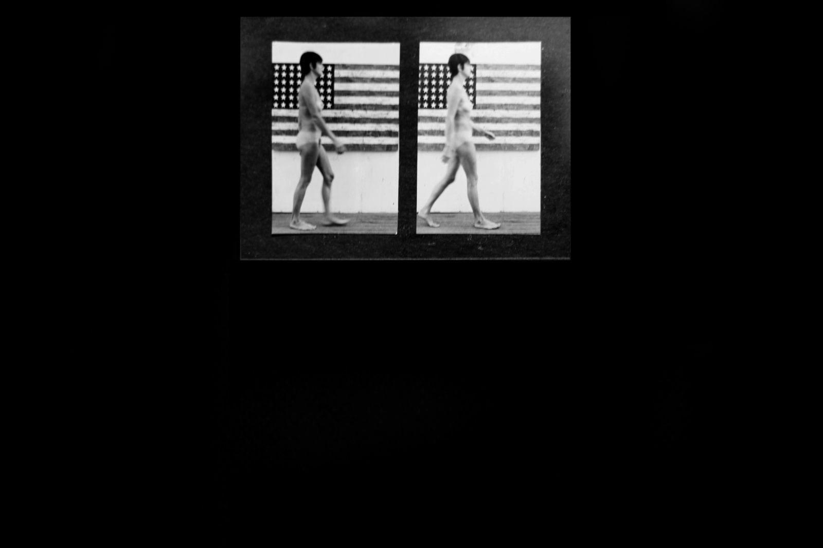 """Study Woman Walking Muybridge plate 167"", 1966 de STURTEVANT - Courtesy Galerie Ropac © Photo Éric Simon"