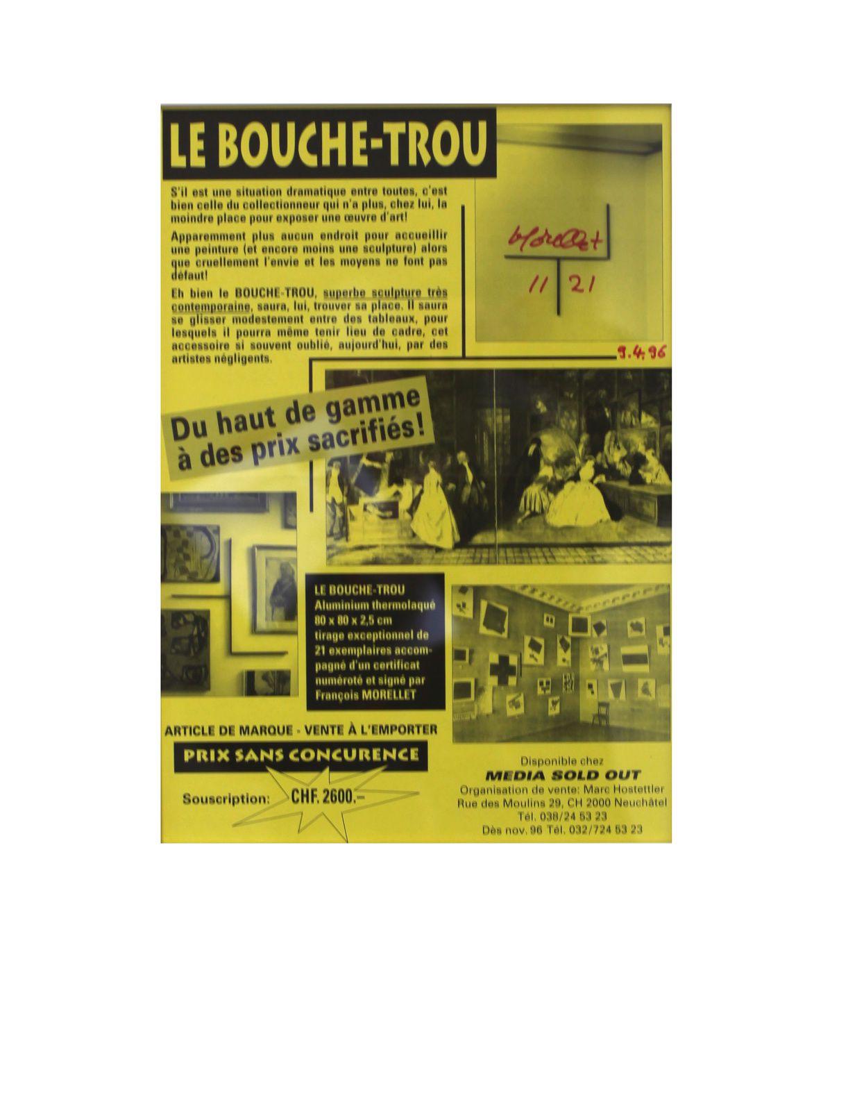 """""""Le bouche trou"""", 1996 de François MORELLET - Courtesy Galerie Kamel MENNOUR © Photo Éric Simon"""