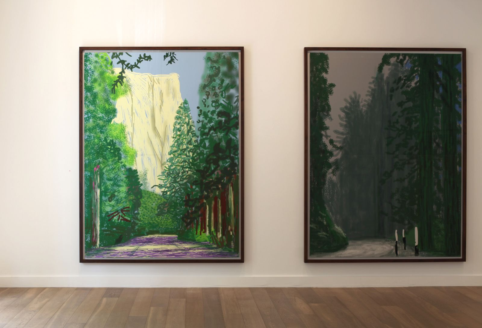 """Untitled Yosemite II"", 2011 de David HOCKNEY - Courtesy Galerie Lelong © Photo Éric Simon"