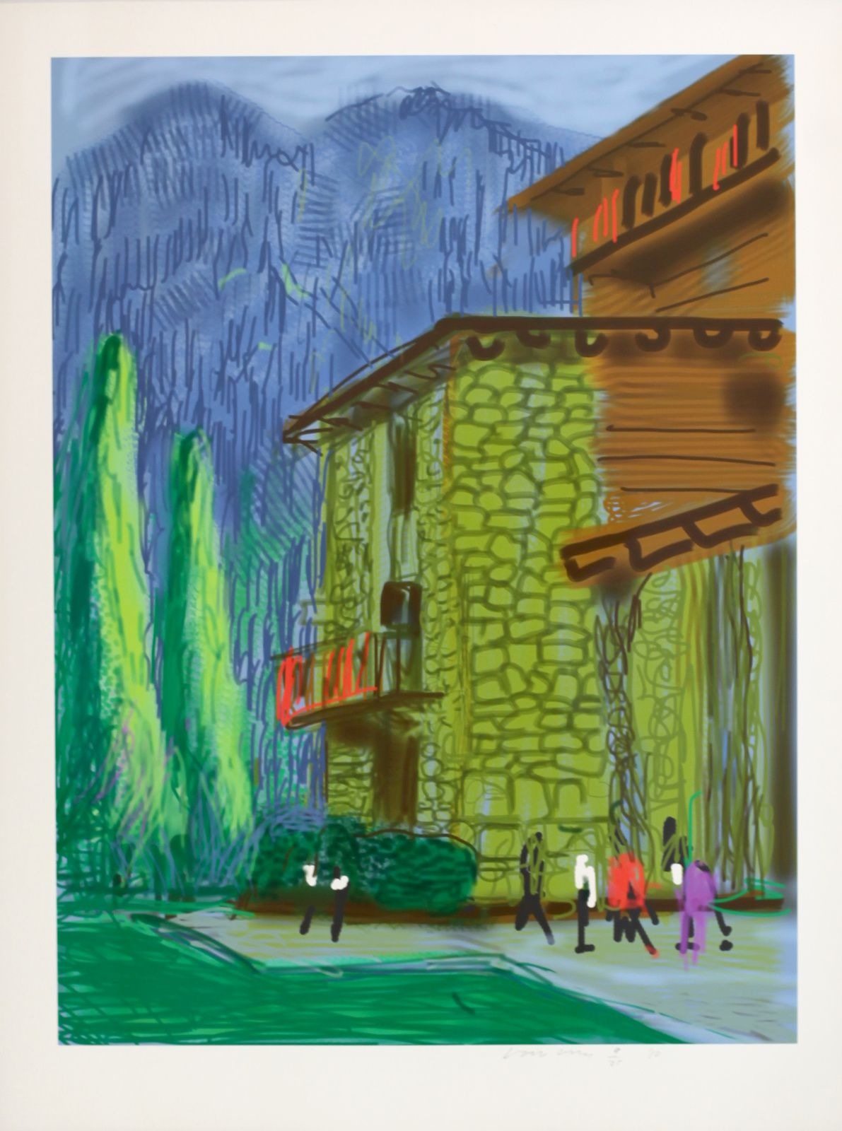 """Untitled N°1, from Yosemite"", 2010 de David HOCKNEY - Courtesy Galerie Lelong © Photo Éric Simon"