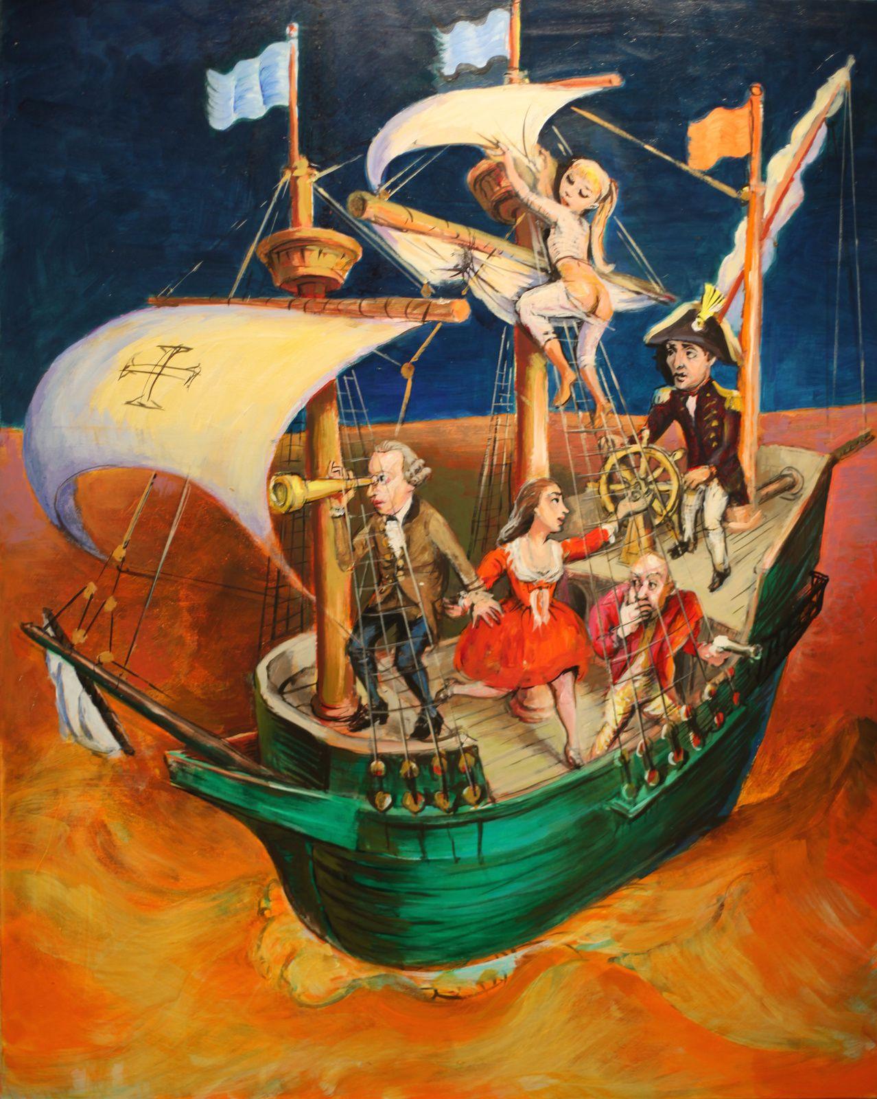 """Ship of Fools"", 2012 de Stu MEAD - Courtesy Arts Factory © Photo Éric Simon"