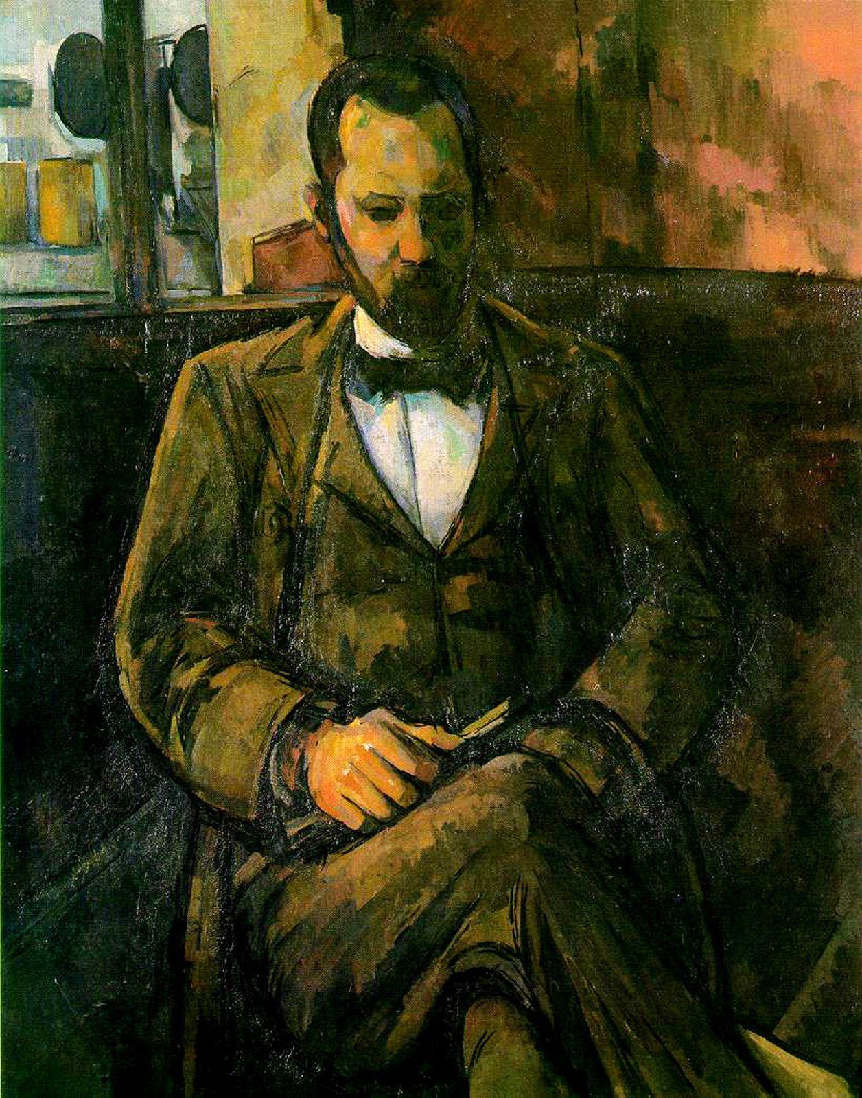 """Portrait de Vollard"", 1899 de Paul Cézanne"