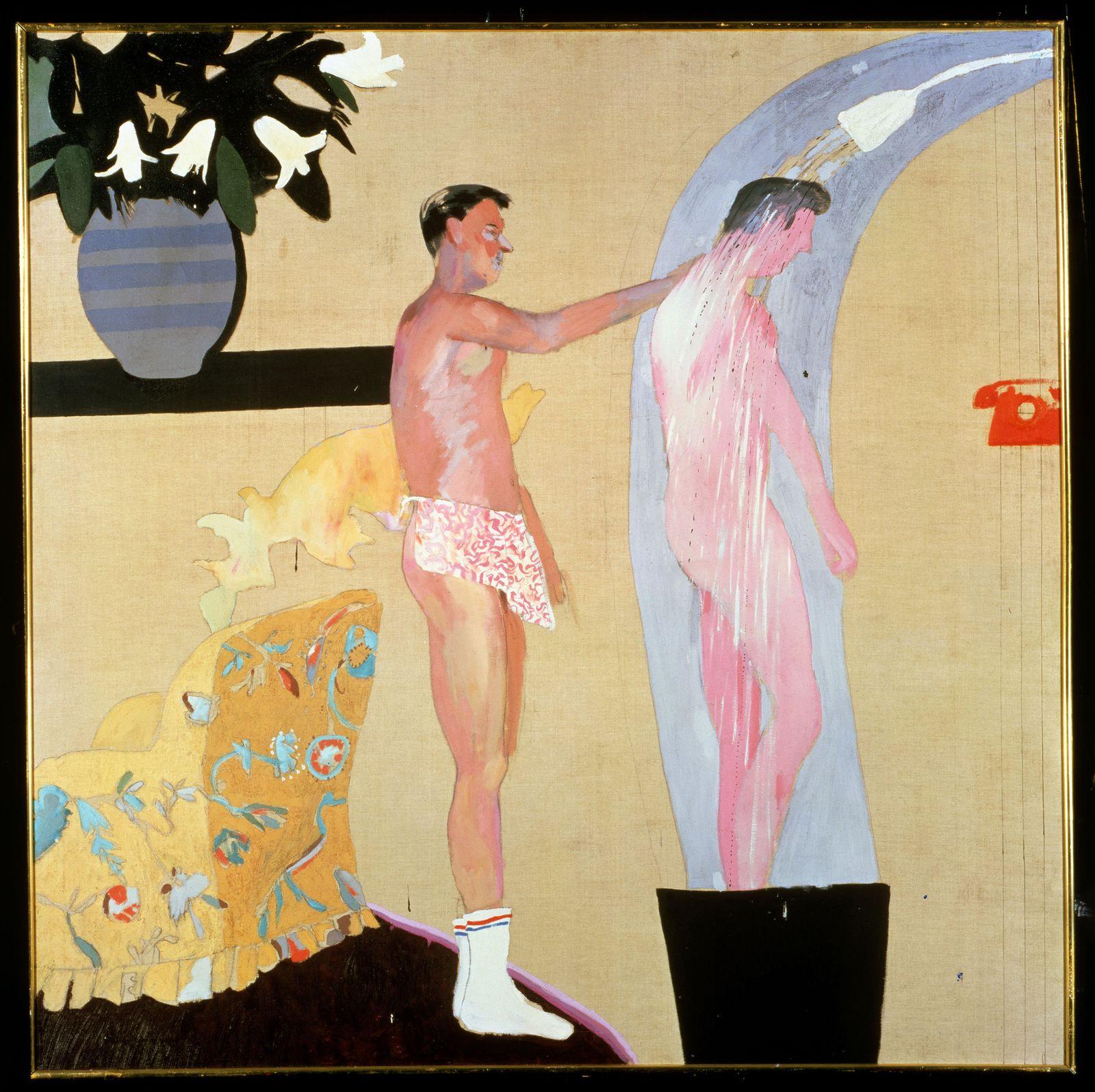 """""""Domestic Scenes, Los Angeles)"""", 1963  de David HOCKNEY"""