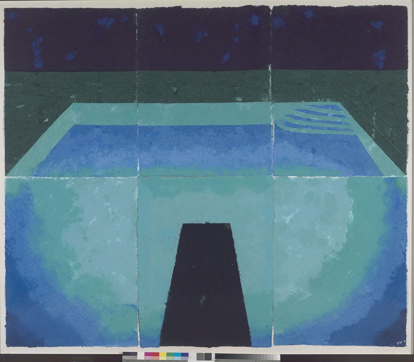 """""""Schwimmbad Mitternacht"""", 1978 de David HOCKNEY - Courtesy Richard Schmidt"""