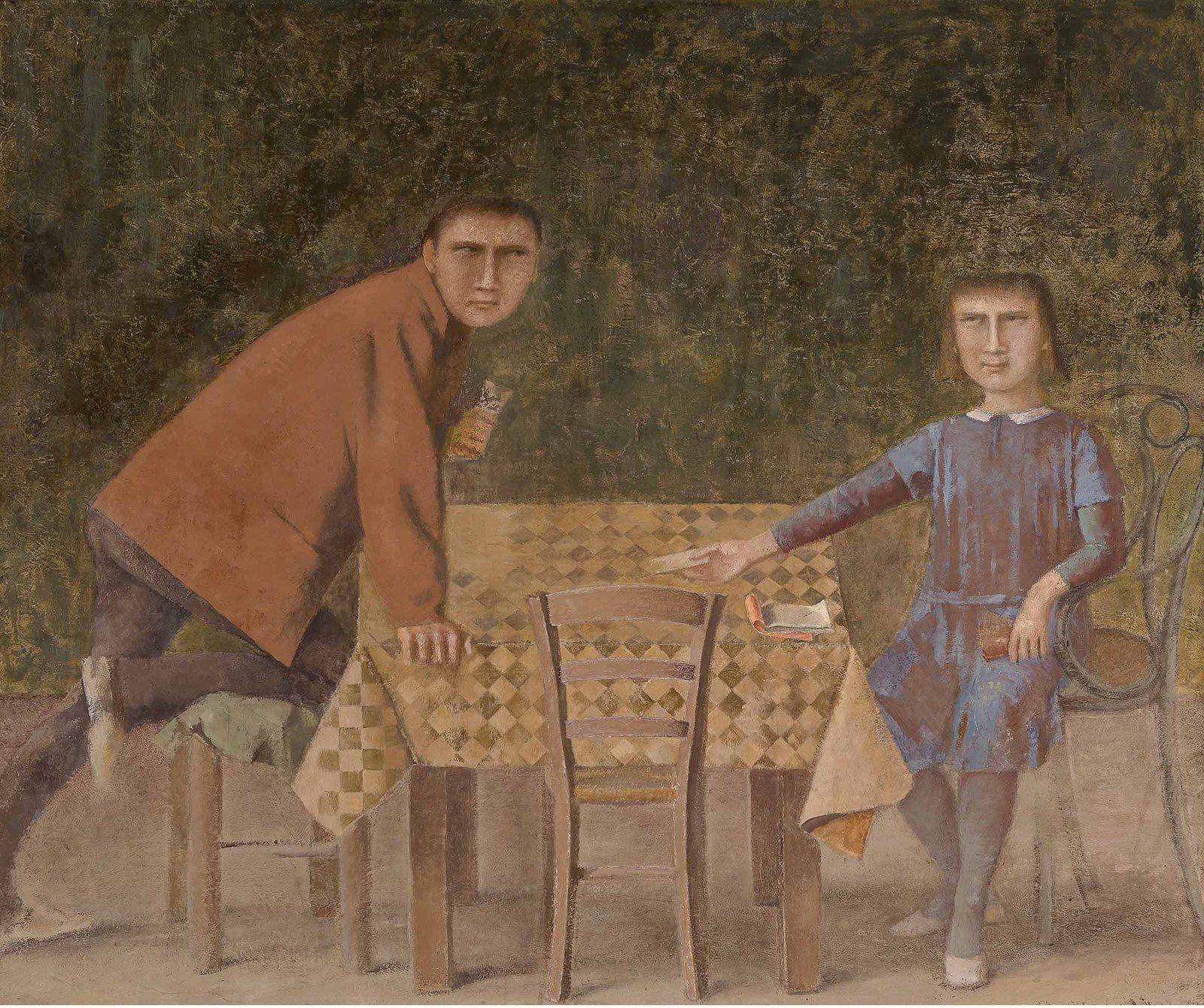 """""""Les joueurs de cartes"""", 1973 de Balthus - Courtesy Museum Bojmans Van Beuningen"""