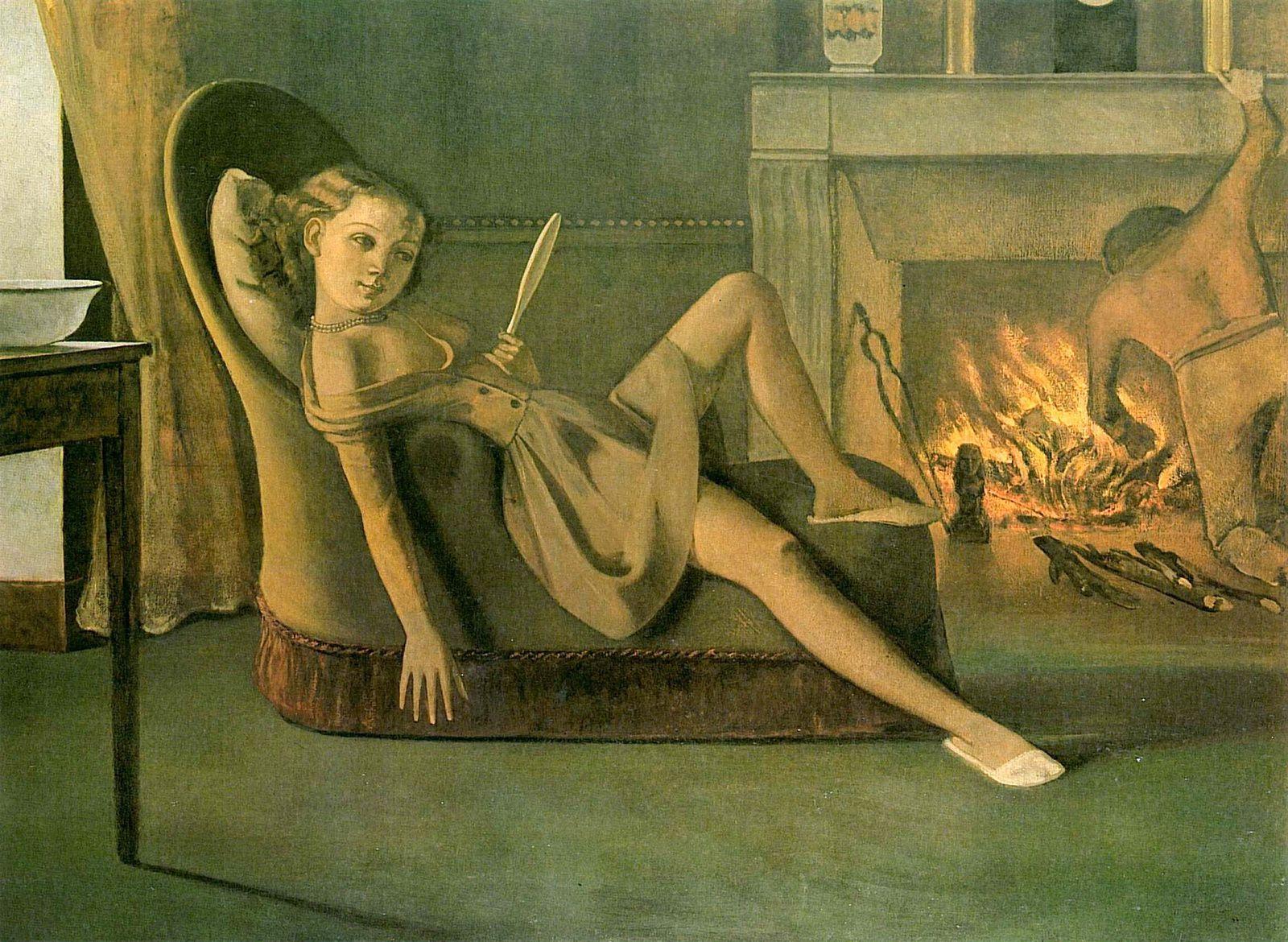 """""""Les Beaux jours"""", 1946 de Balthus - Courtesy Hirshhom Museum and Sculpture Garden"""
