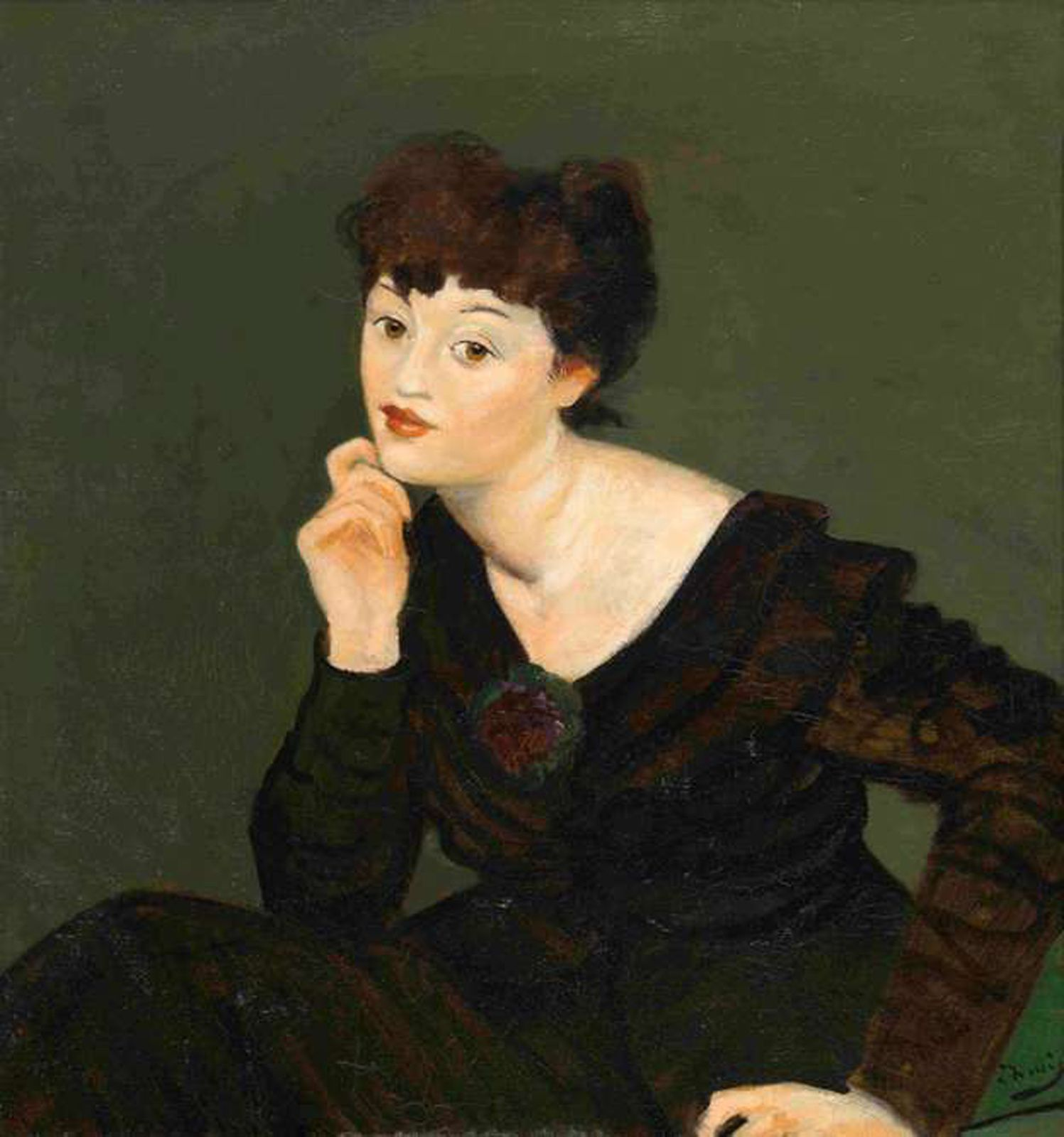 """Isabelle Lambert"", 1939 d'André Derain  - Courtesy North Carolina Museum of Art"