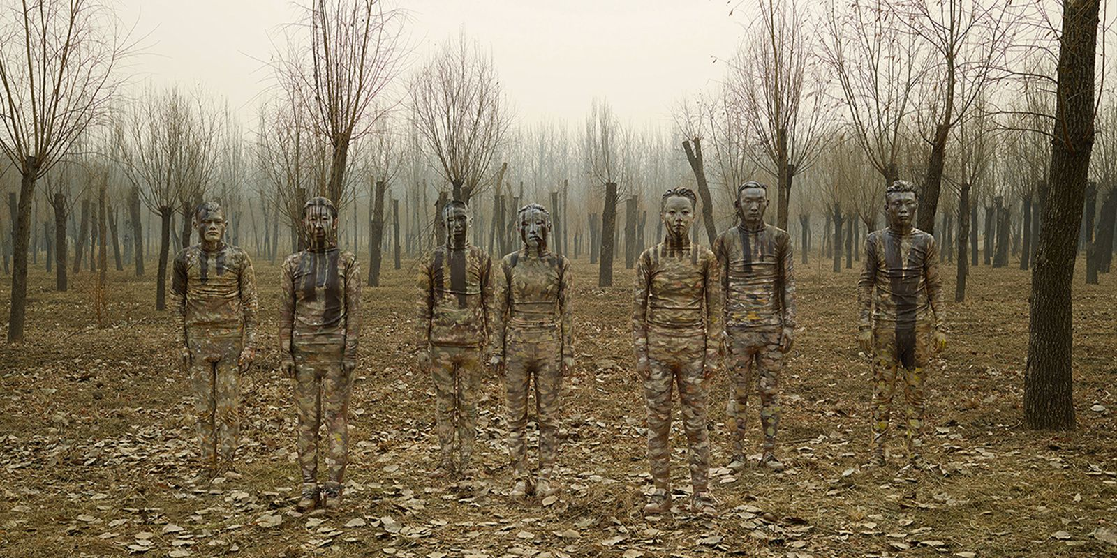 """The Winter Solstice"", 2016 de LIU BOLIN - Galerie Paris Beijing  Photo Éric Simon"
