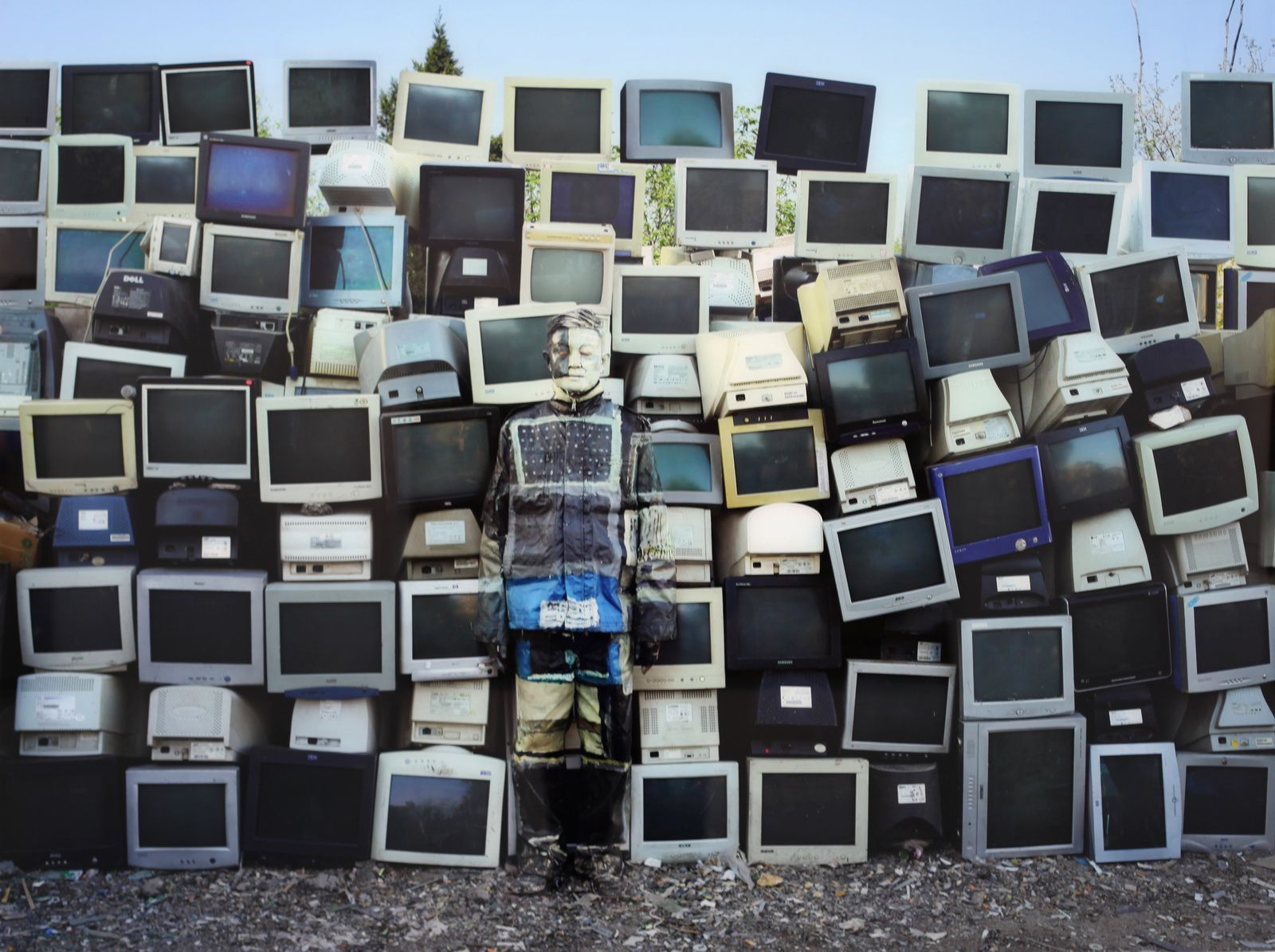 """Screen in Rest"", 2017 de LIU BOLIN - Galerie Paris Beijing  Photo Éric Simon"