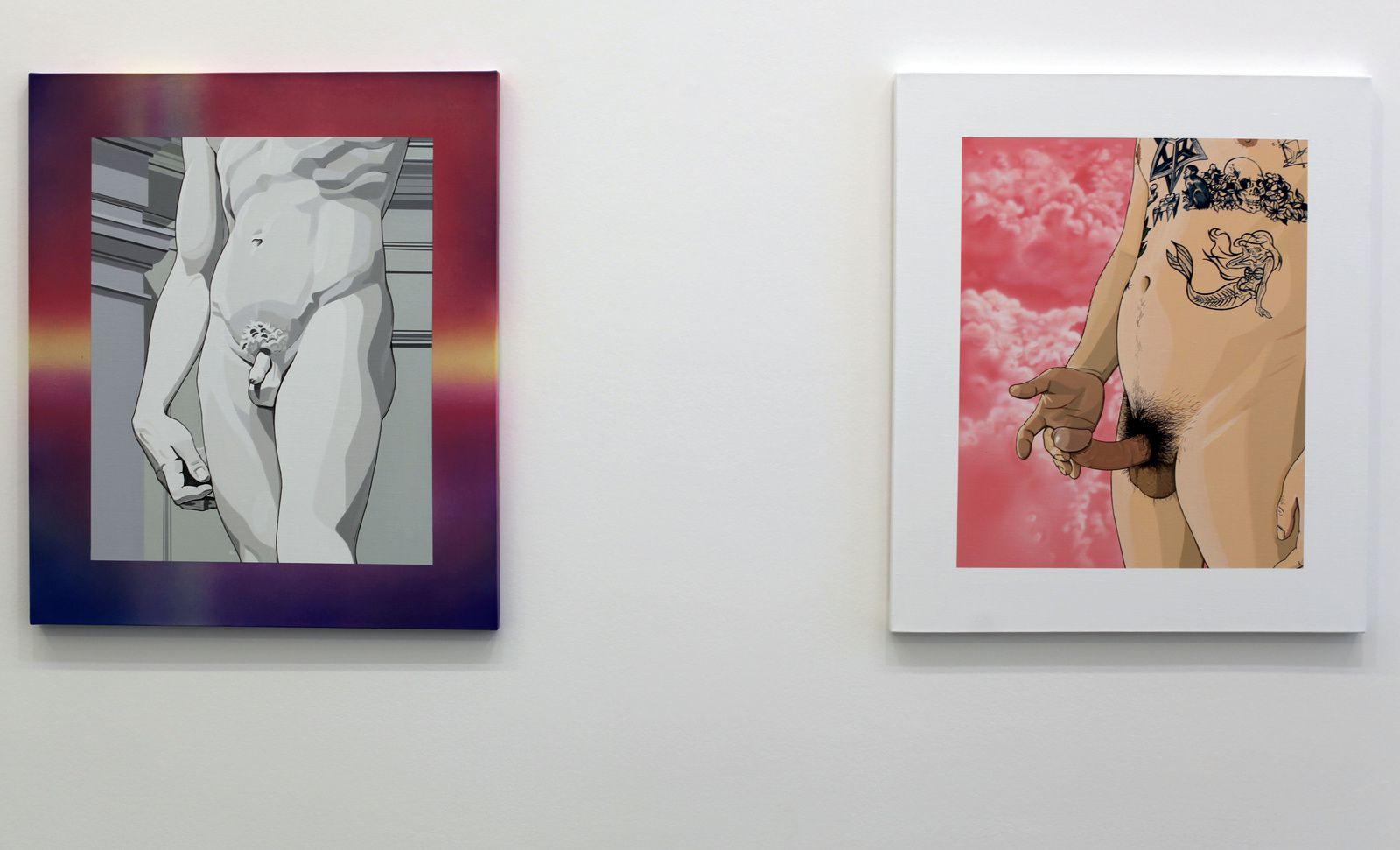 """Aesthetics of Balance - Left"", 2017 et ""Aesthetics of Balance - Right"", 2017 de CHEN FEI - Courtesy Galerie Perrotin © Photo Éric Simon"