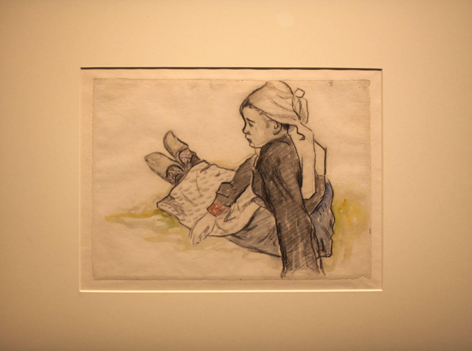 """""""Jeune bretonne assise"""", 1886 de Paul GAUGUIN - Courtesy Musée Quai Branly  © Photo Éric Simon"""