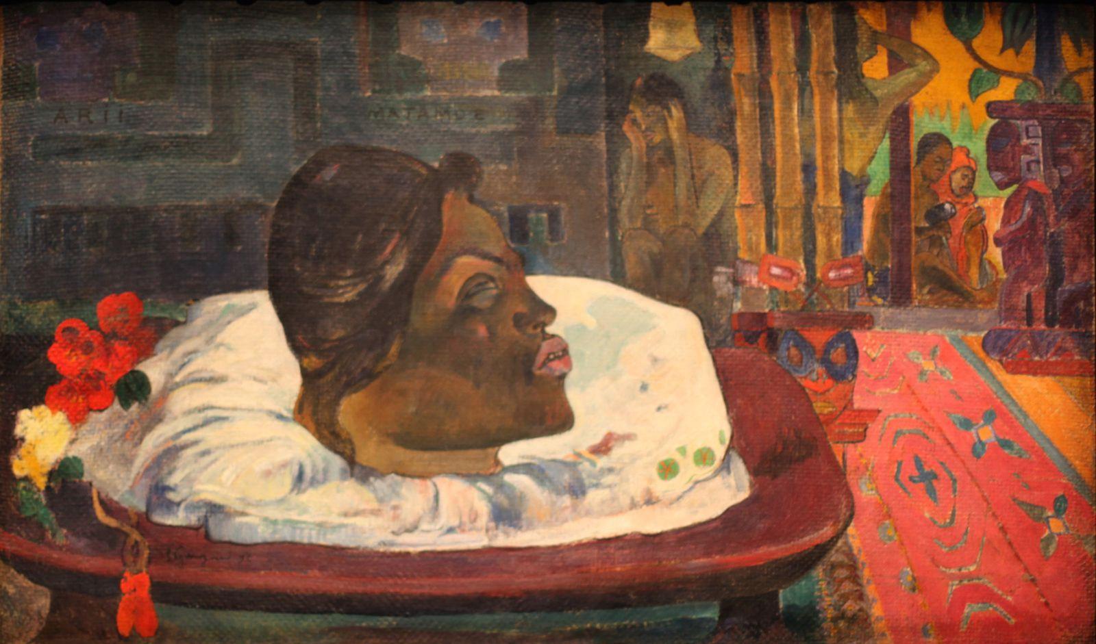 """ARRI MATAMOE (La fin Royale)"", 1892 de Paul GAUGUIN - Courtesy LOS ANGELES, The J. Paul GETTY Museum © Photo Éric Simon"