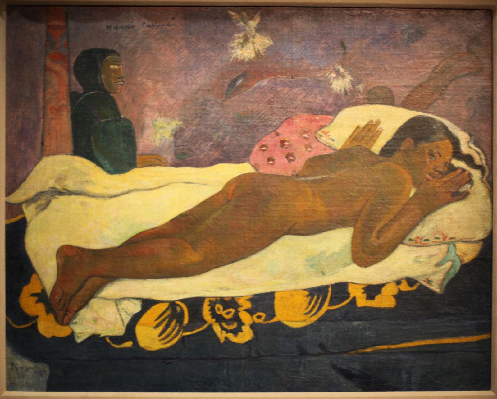 """MANAO TUPAPAU (L'esprit veille)"", 1892 de Paul GAUGUIN - Courtesy BUFFALO, Collection Albright-Knox Art Gallery  © Photo Éric Simon"