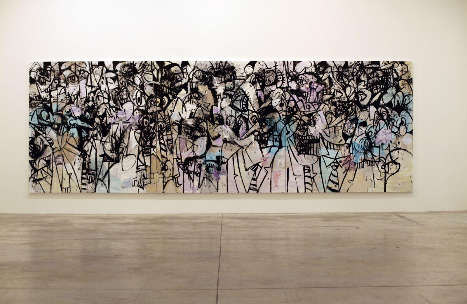 """Collusion"", 2017 de George CONDO - Courtesy Galerie Almine RECH © Photo Éric Simon"