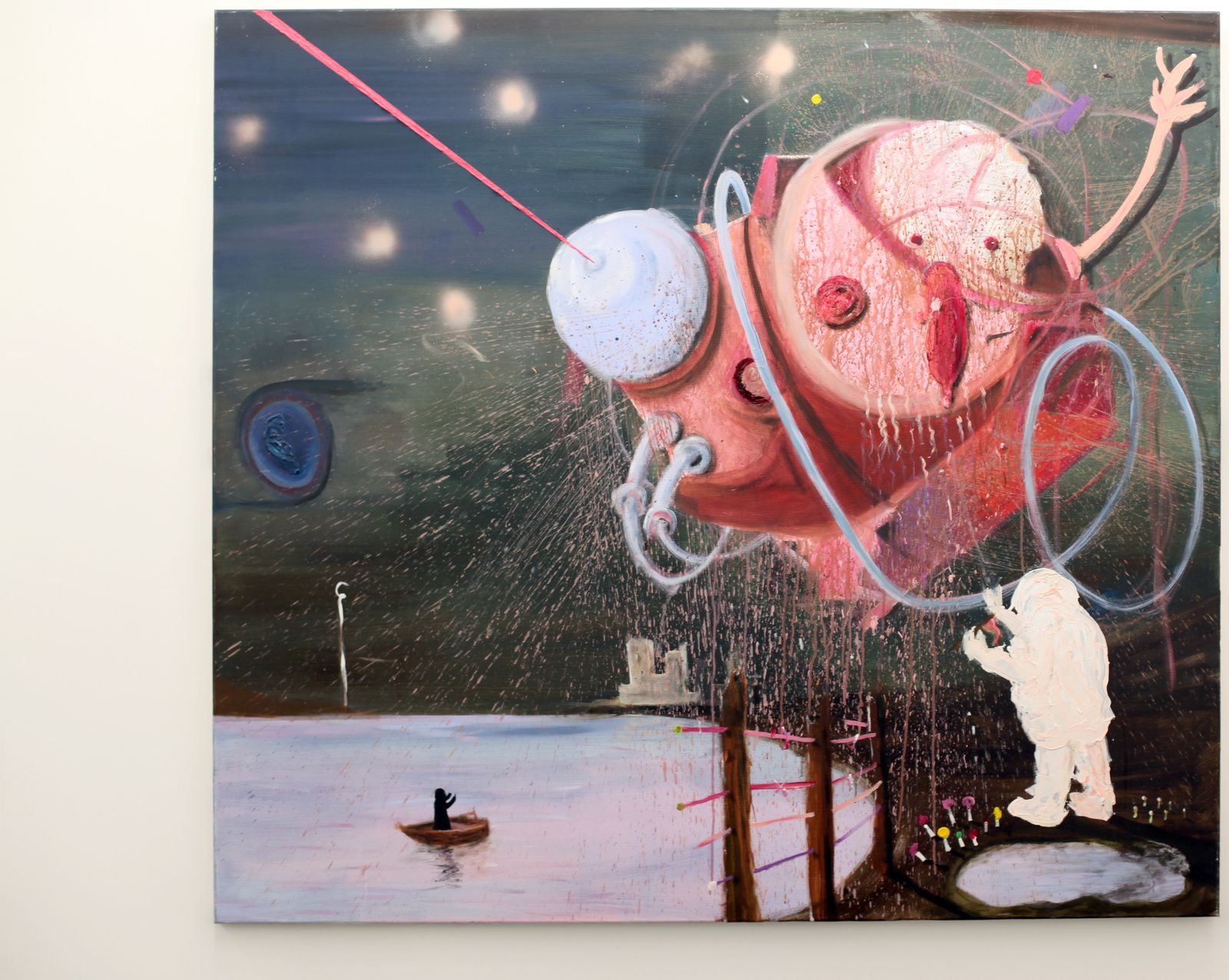 """Fishing for Compliments"", 2015 de Philip GRÖZINGER - Courtesy Galerie Galerie Maia Muller © Photo Éric Simon"