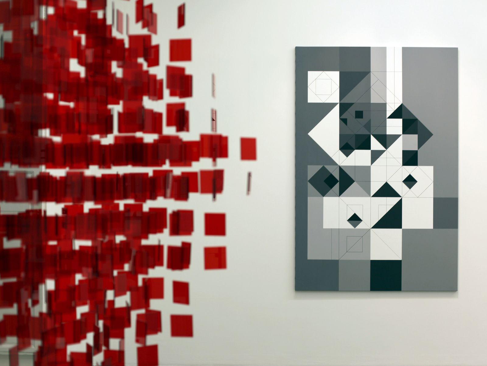 """""""Siete grises y blancos"""", 1958 / 2016 de Julio Le Parc - Courtesy Galerie Perrotin © Photo Éric Simon"""