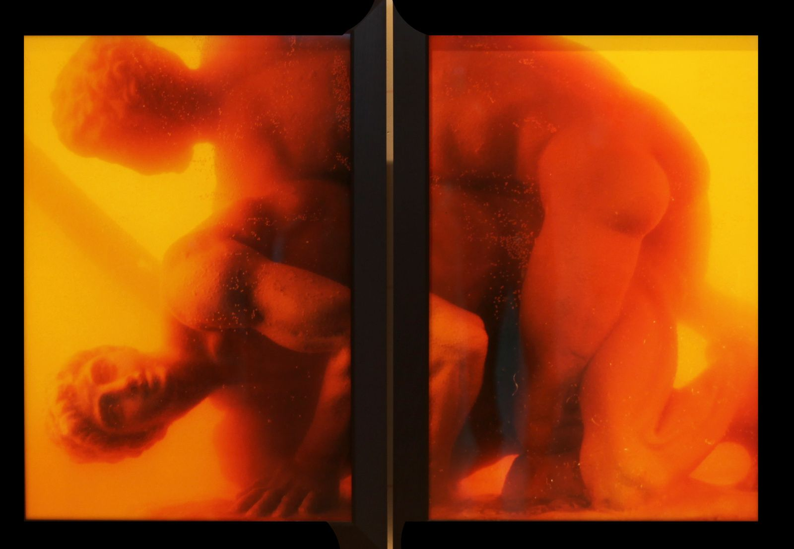 """Hercules Punishing Diomedes, Part I and II (Immersions)"", 1990 de Andres SERRANO © Photo Éric Simon"