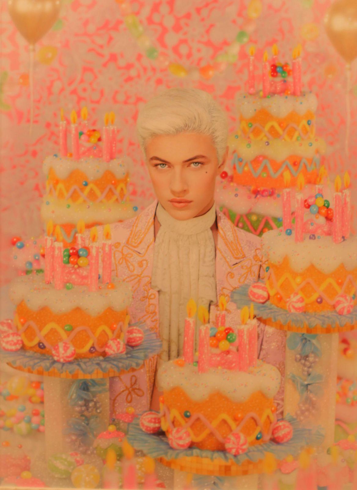 """Candy Paradise (Lucky Blue Smith)"", 2015 de PIERRE et GILLES - Courtesy Galerie TEMPLON © Photo Éric Simon"