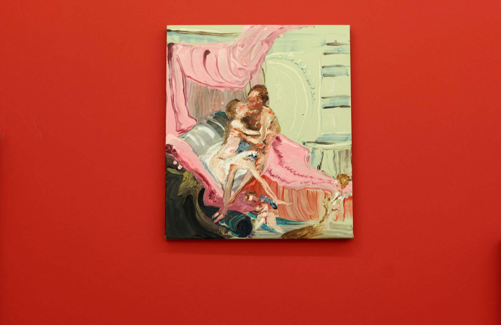 """Hercules and omphale (After Boucher)"", 2018 de Genieve FIGGIS - Courtesy Almine RECH Gallery © Photo Éric Simon"