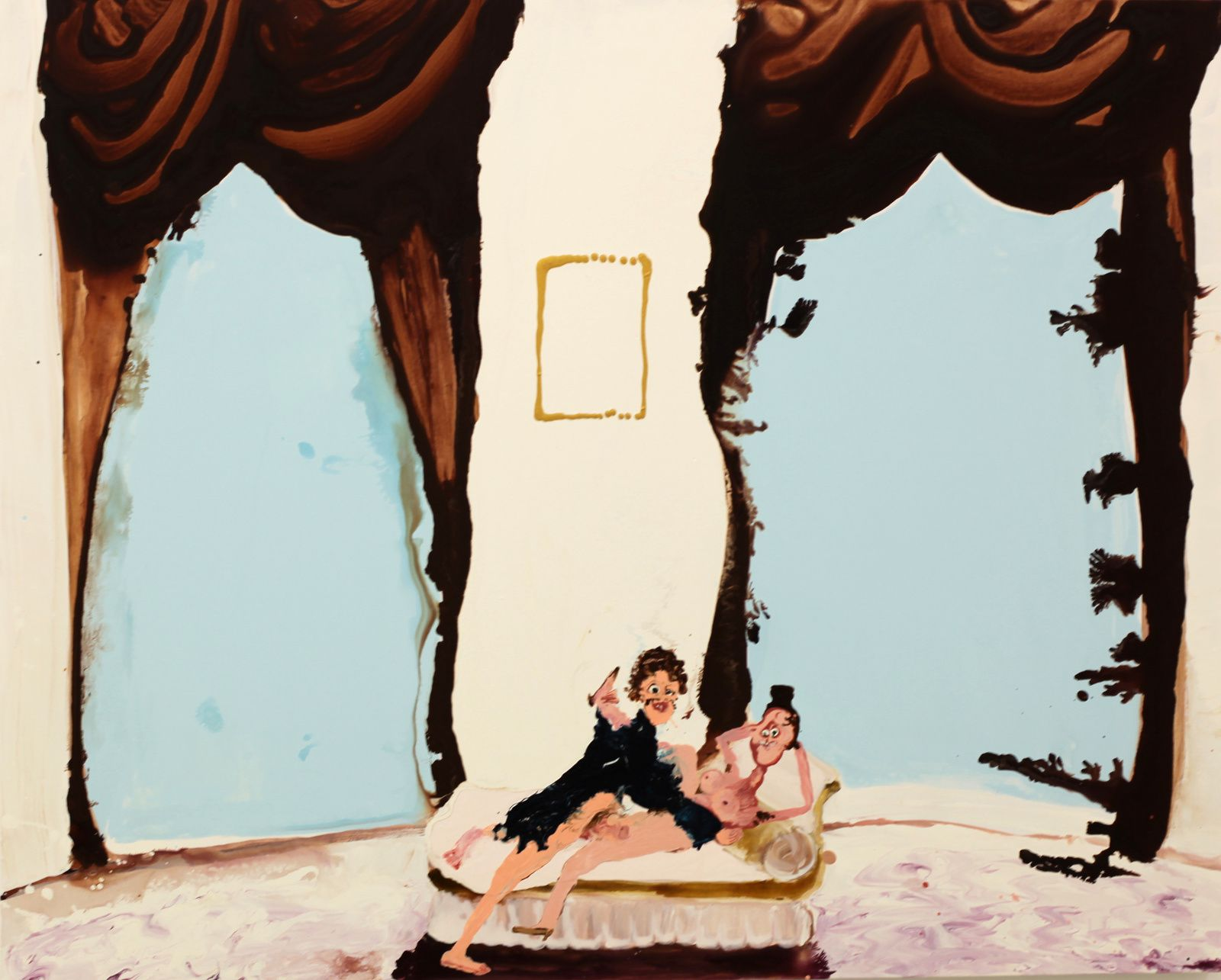 """Velvet Curtains"", 2018 de Genieve FIGGIS - Courtesy Almine RECH Gallery © Photo Éric Simon"