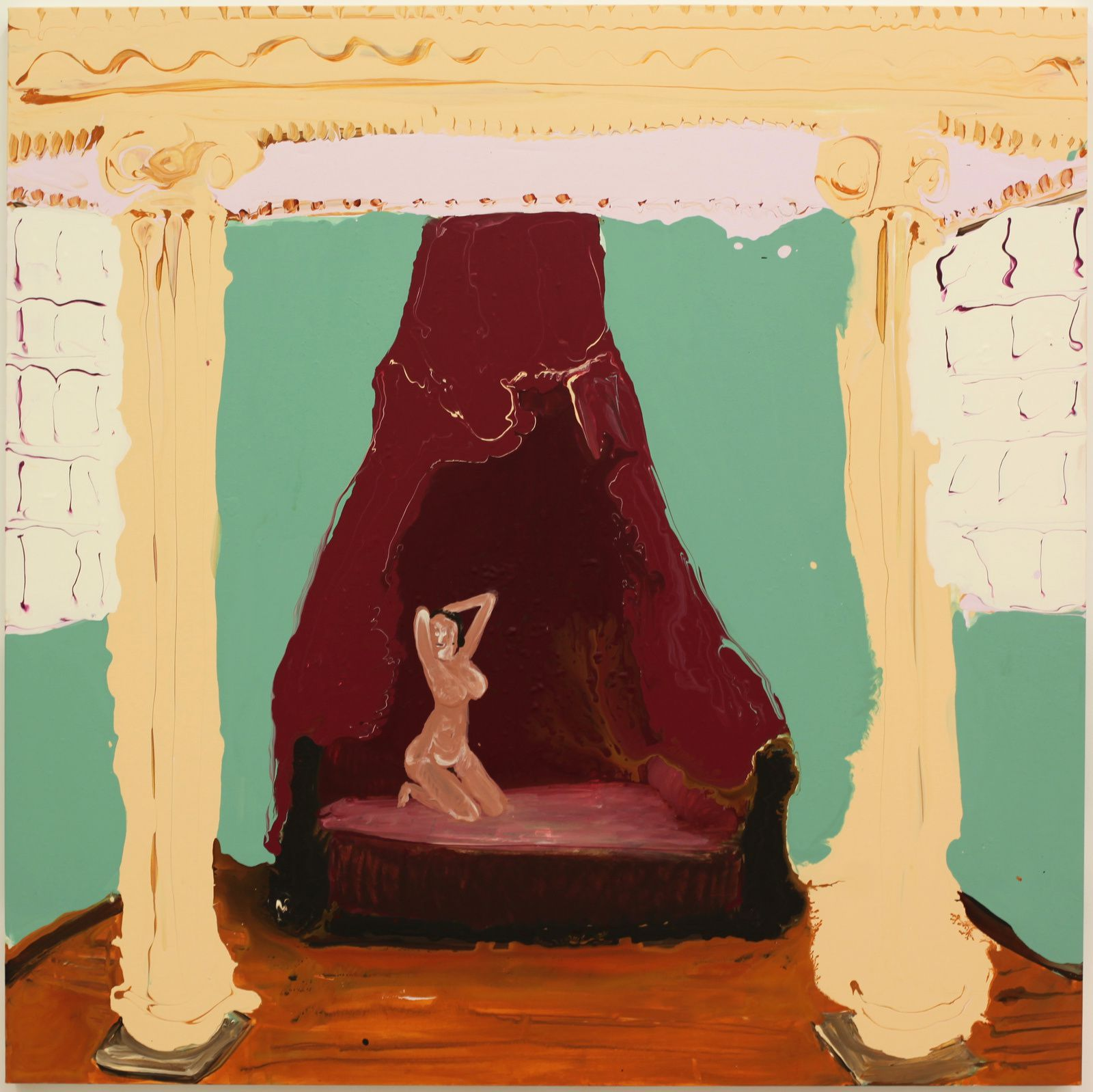 """Nude"", 2018 de Genieve FIGGIS - Courtesy Almine RECH Gallery © Photo Éric Simon"