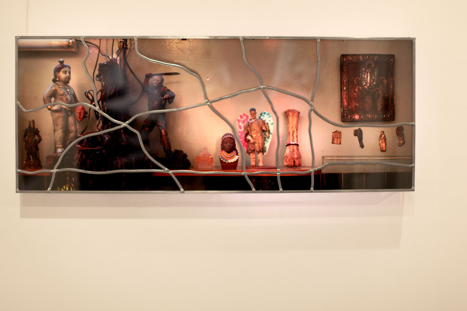 """""""N°4 Vitraux Atelier"""", 2017 de SARKIS - Courtesy Galerie Nathalie OBADIA © Photo Éric Simon"""
