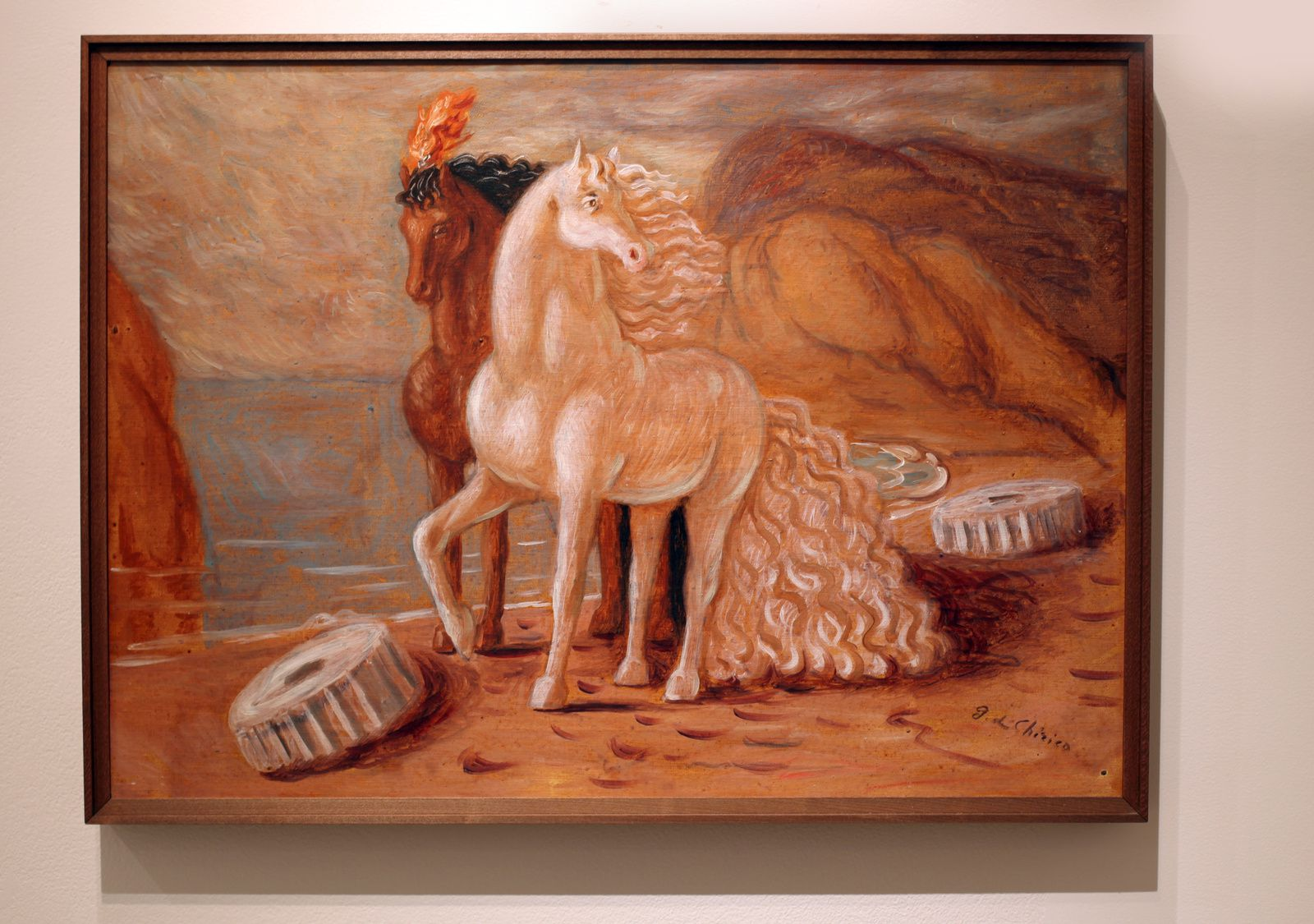 """Cavalli in riva al mare"", 1932 - 1933 de Giorgio DE CHIRICO - Courtesy Galerie Tornabuoni Art Paris © Photo Éric Simon"