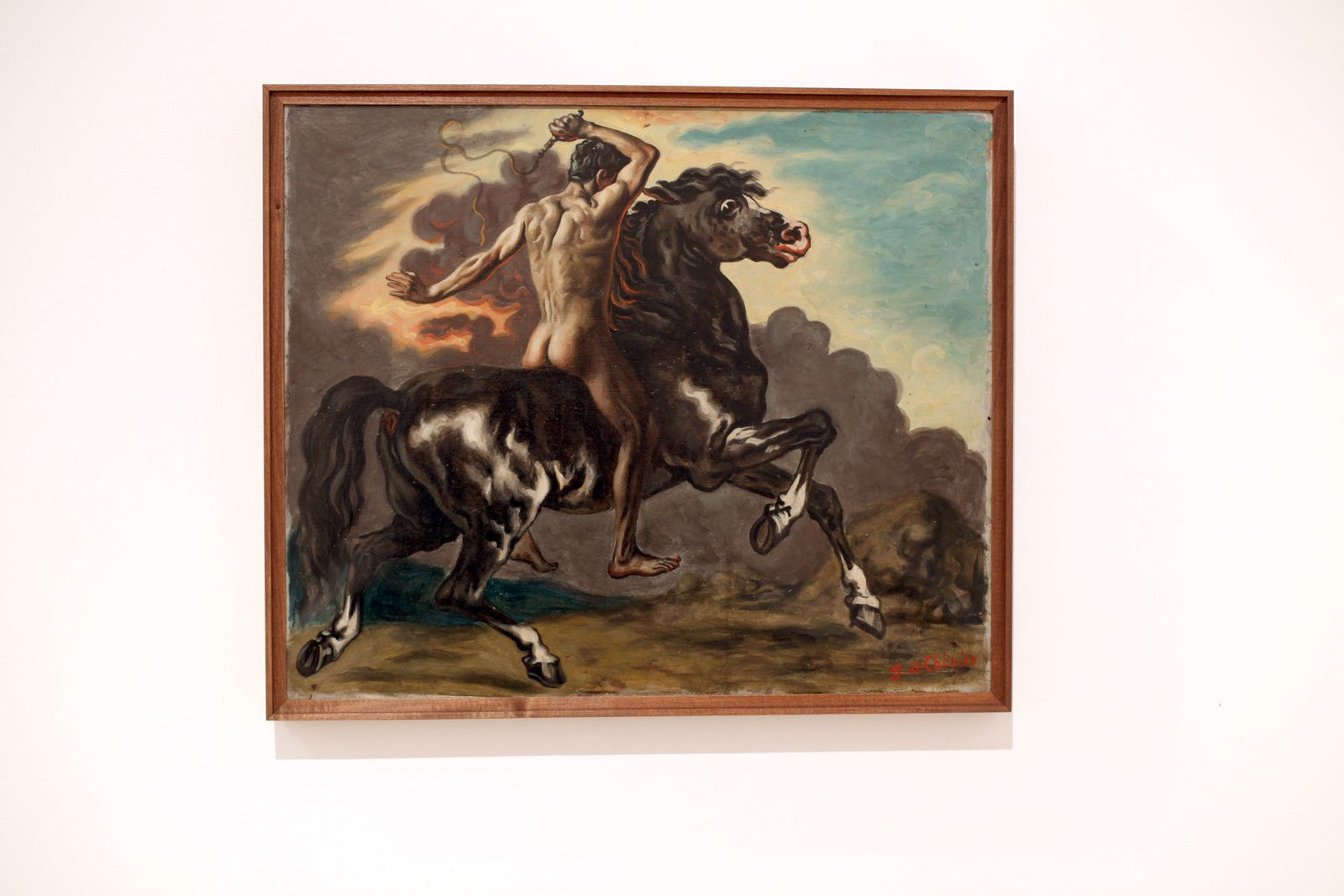 """Cavallo e cavaliere"", 1929 de Giorgio DE CHIRICO - Courtesy Galerie Tornabuoni Art Paris © Photo Éric Simon"