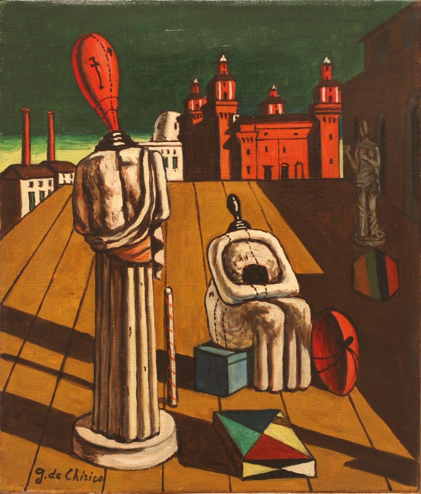 """Le Muse inquietanti"", 1960 - 1962 de Giorgio DE CHIRICO - Courtesy Galerie Tornabuoni Art Paris © Photo Éric Simon"