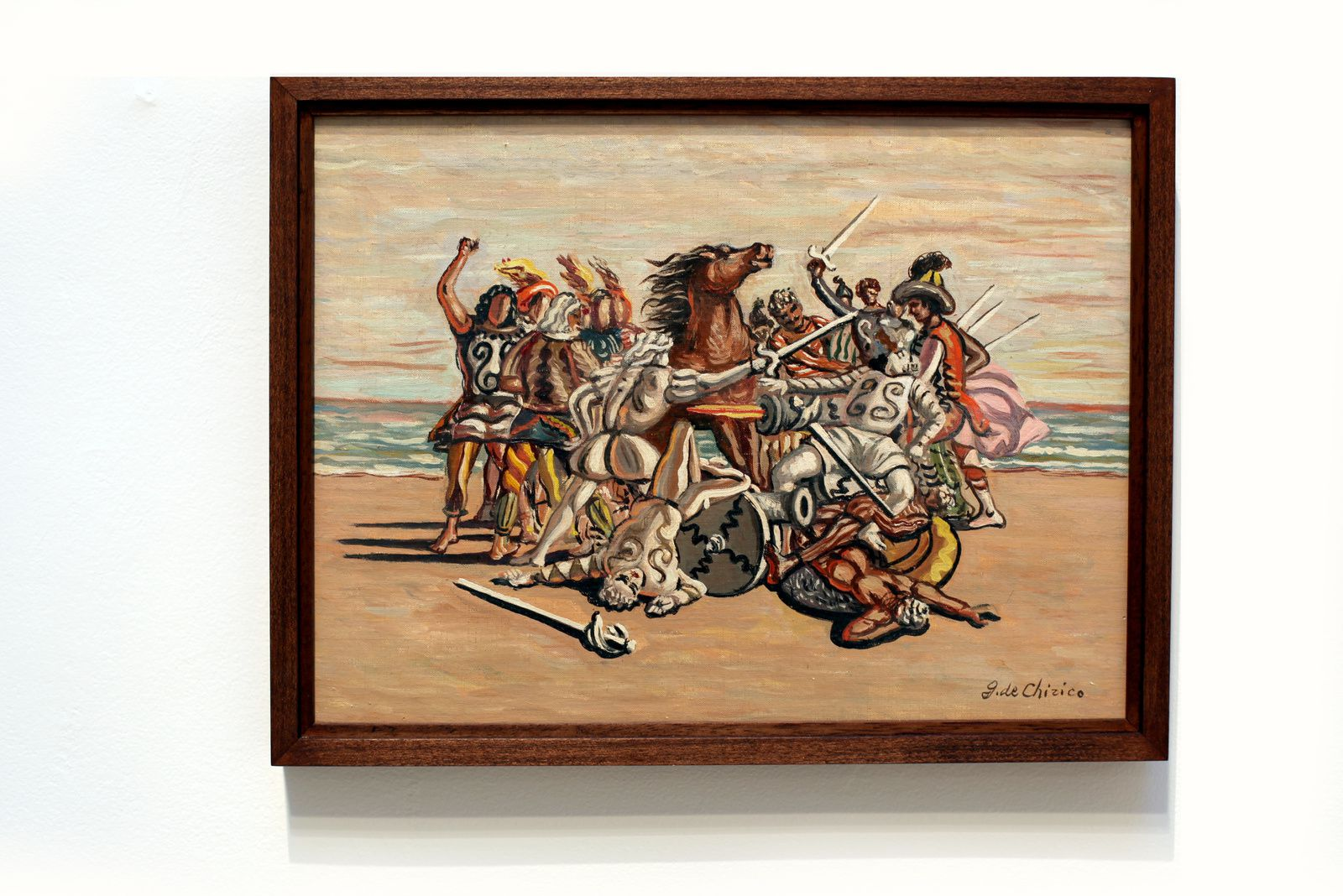 """""""Combattinento di puritani"""", 1933 de Giorgio DE CHIRICO - Courtesy Galerie Tornabuoni Art Paris © Photo Éric Simon"""