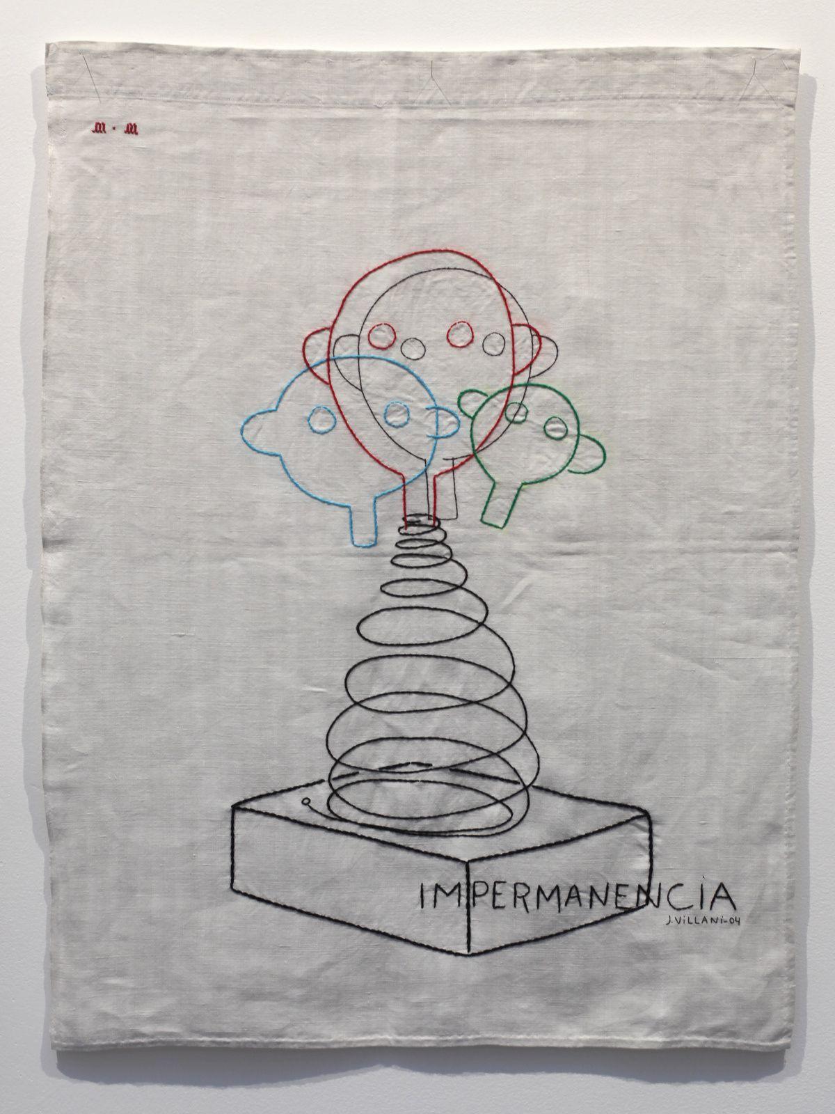 """""""Sculpture, dessin brodé"""", 2004 de Julio VILLANI - Courtesy Galerie RX © Photo Éric Simon"""