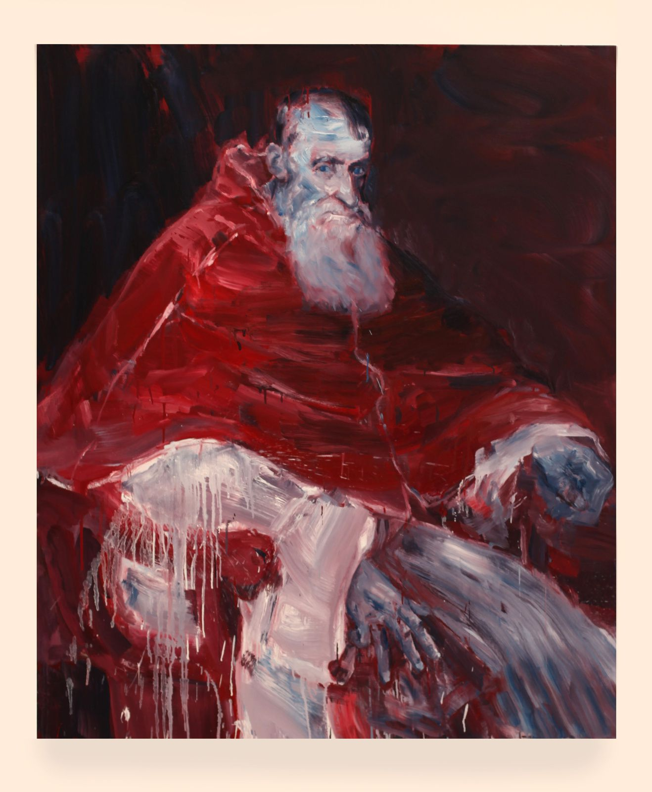 """Pape Paul III tête nue"", 2017 de Yan PEI-MING - Courtesy Galerie Thaddaeus ROPAC © Photo Éric Simon"