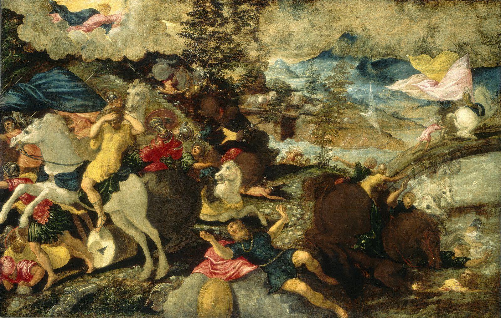 """""""La Conversion de saint Paul"""",  1538-1539 de TINTORET - Courtesy Washington, National Gallery of Art"""