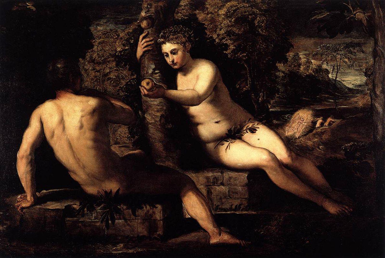 """""""Le Péché originel """" vers 1551-1552 de TINTORET - Courtesy  Venise, Gallerie dell'Accademia"""