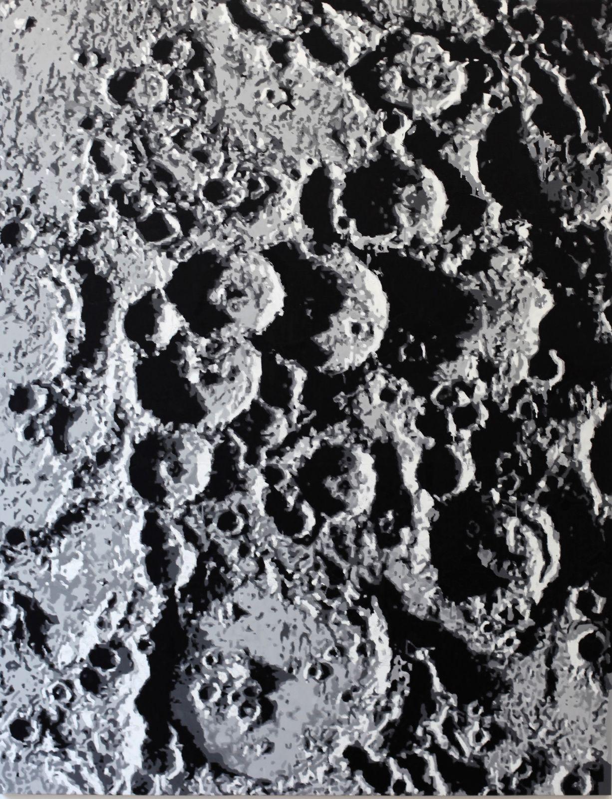 """""""Overlopping Craters (After James Nasmyth 1885)"""", 2018 de David MALEK est né en 1977 à Springfield Illinois USA. - Courtesy Galerie Laurent Strouk  © Photo Éric Simon"""