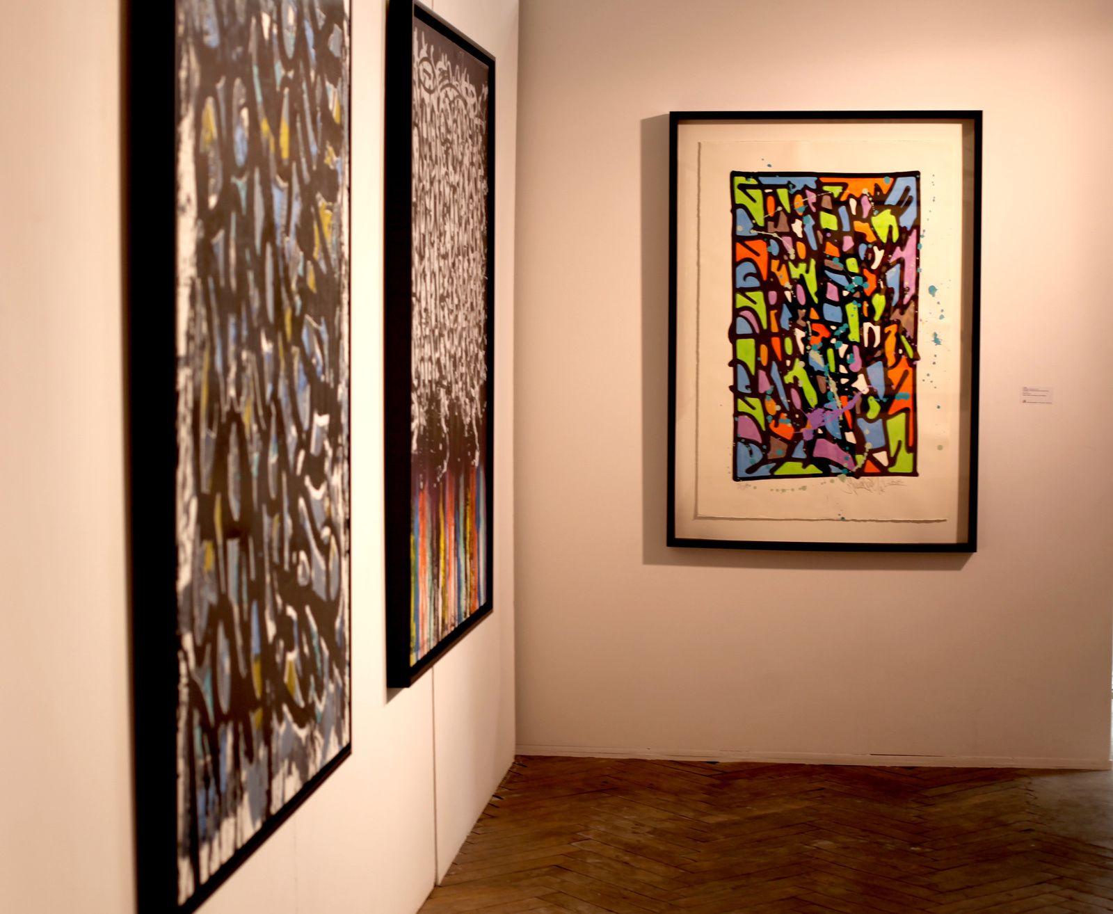Vue de l'exposition JonOne - Courtesy Galerie BRUGIER-RIGAIL © Photo Éroc Simon