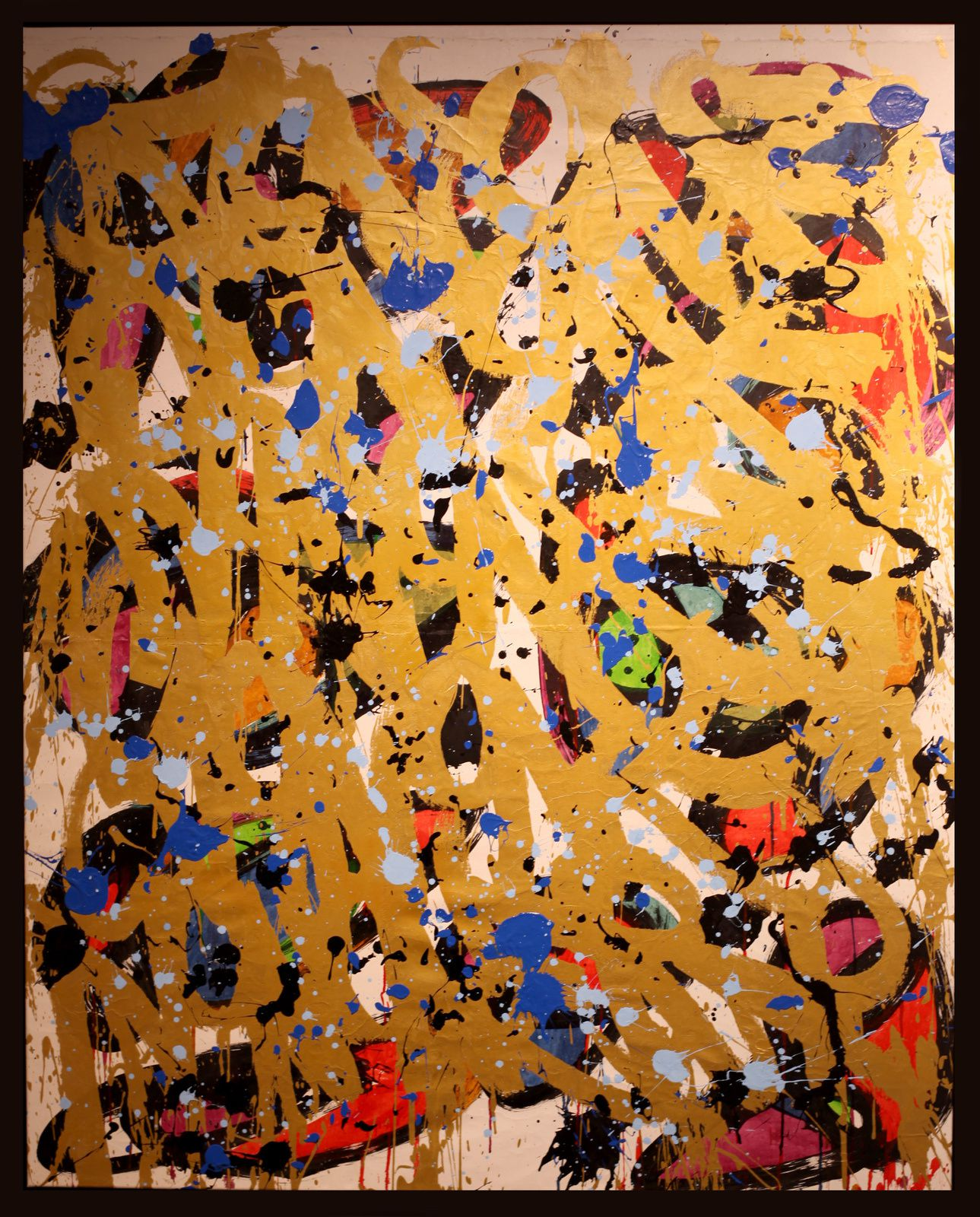 """Everything is going to be fine"", 2018 de JonOne - Courtesy Galerie BRUGIER-RIGAIL © Photo Éroc Simon"