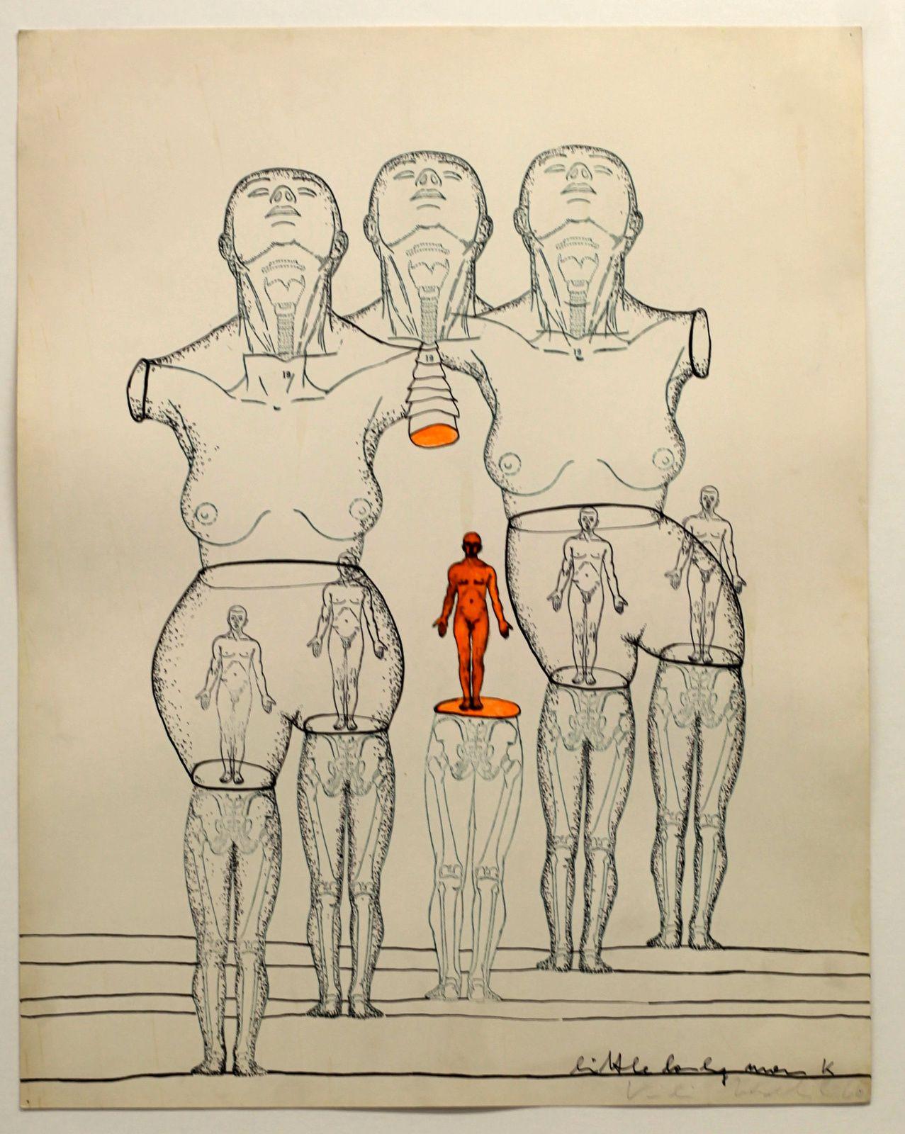 """Little Lonely Man"", 1966 de Kiki KOGELNIK - Courtesy Galerie Nathalie SEROUSSI © Photo Éric Simon"