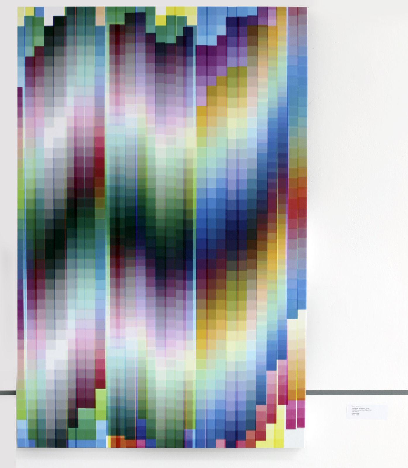"""Subtractive variability 2"", 2018 de Felipe PANTONE - Courtesy Galerie Magda Danysz - Paris © Photo Éric Simon"