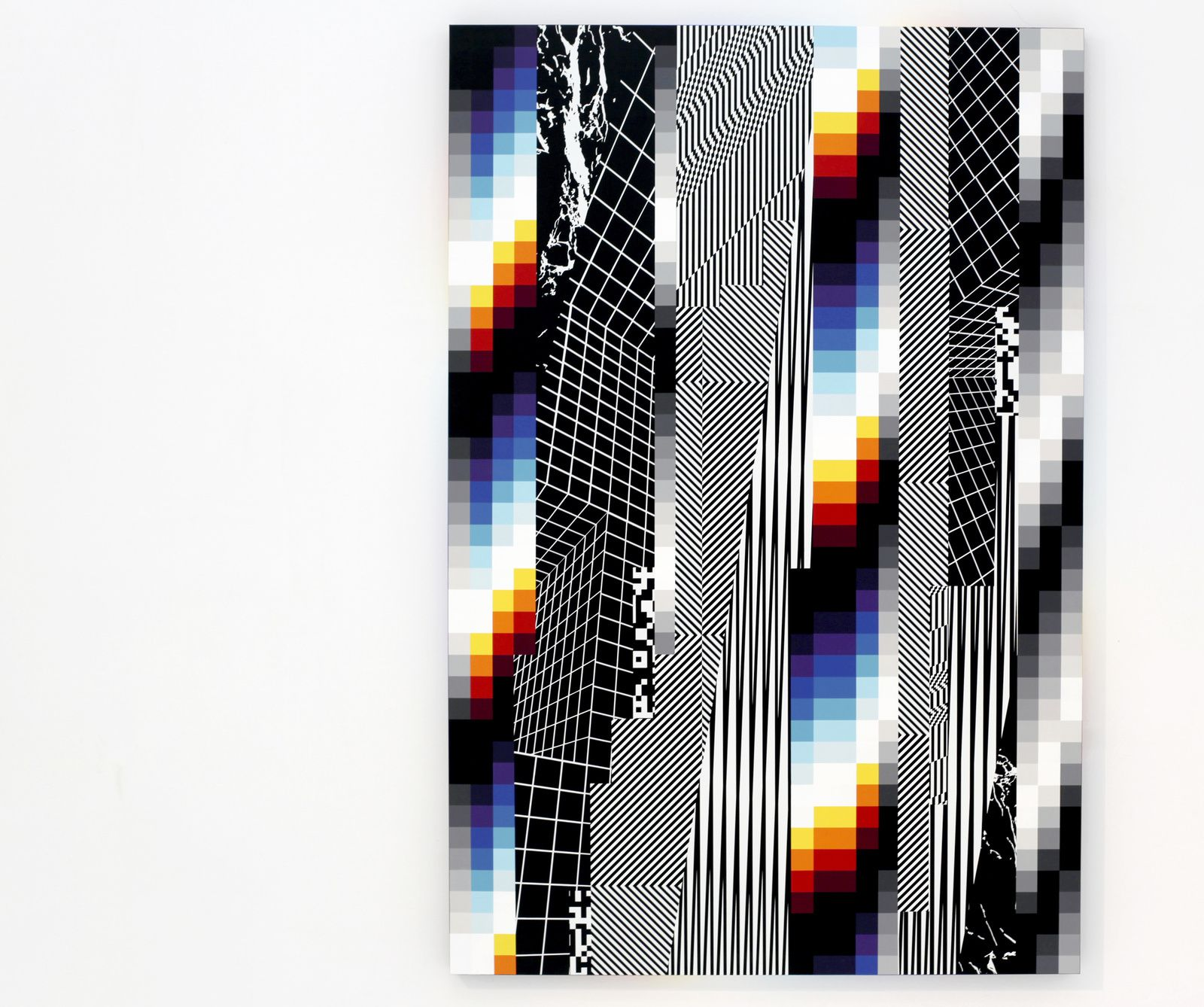 """Chromadynamica 49 "", 2018 de Felipe PANTONE - Courtesy Galerie Magda Danysz - Paris © Photo Éric Simon"