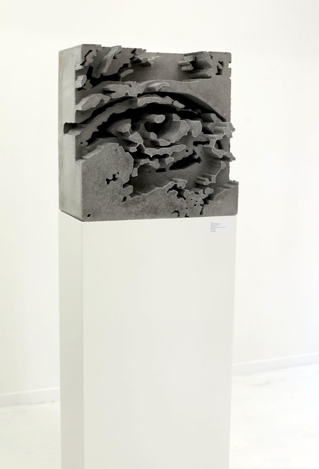 """""""Monolith Serie #01"""", 2018 de VHILS - Courtesy de l'artiste et la galerie Magda Danysz © Photo Éric Simon"""