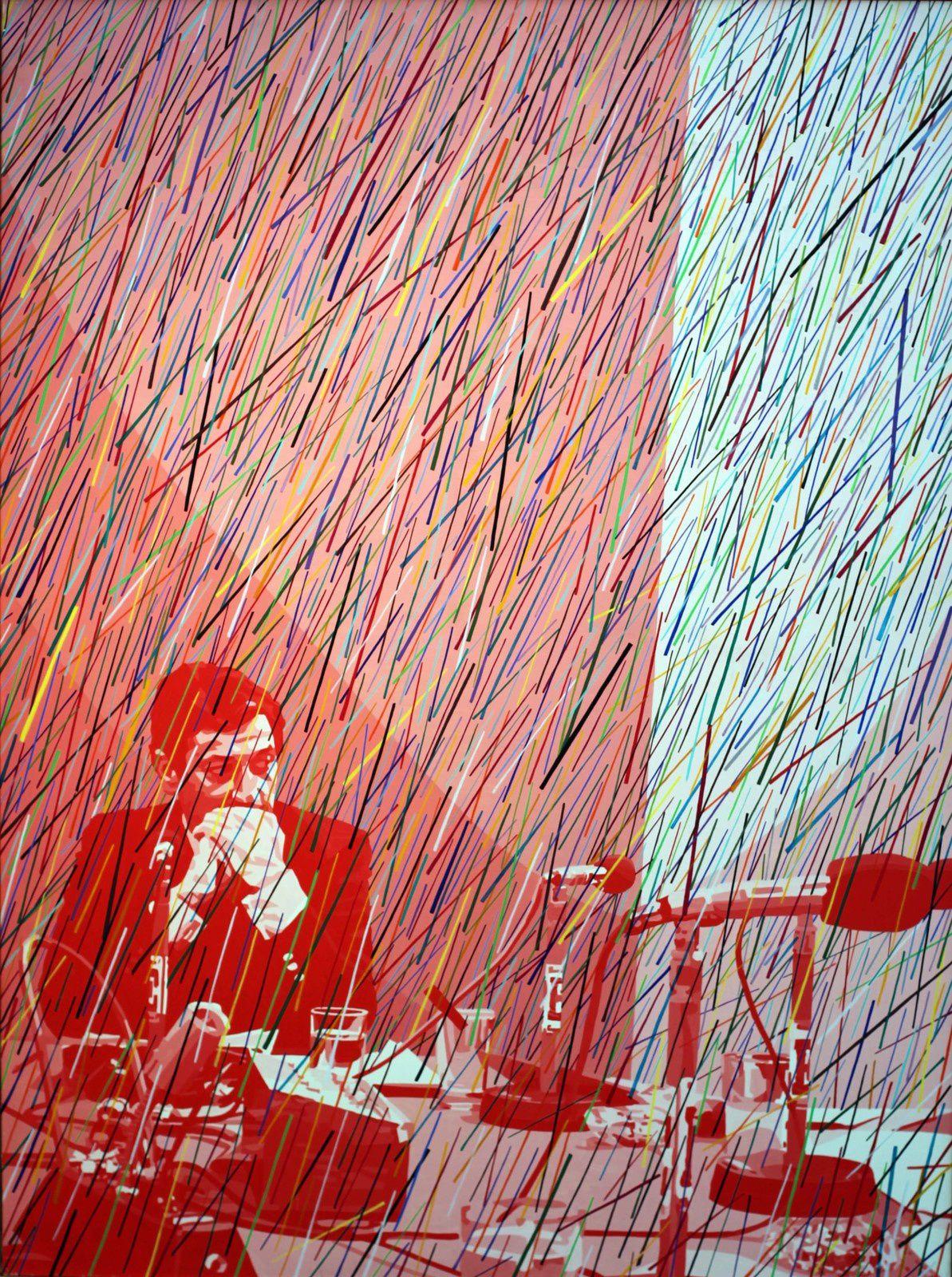 """""""Pleut (de la série Questions), 1977 de Gérard FROMANGER - Courtesy Galerie Jeanne Bucher Jaeger © Photo Éric Simon"""