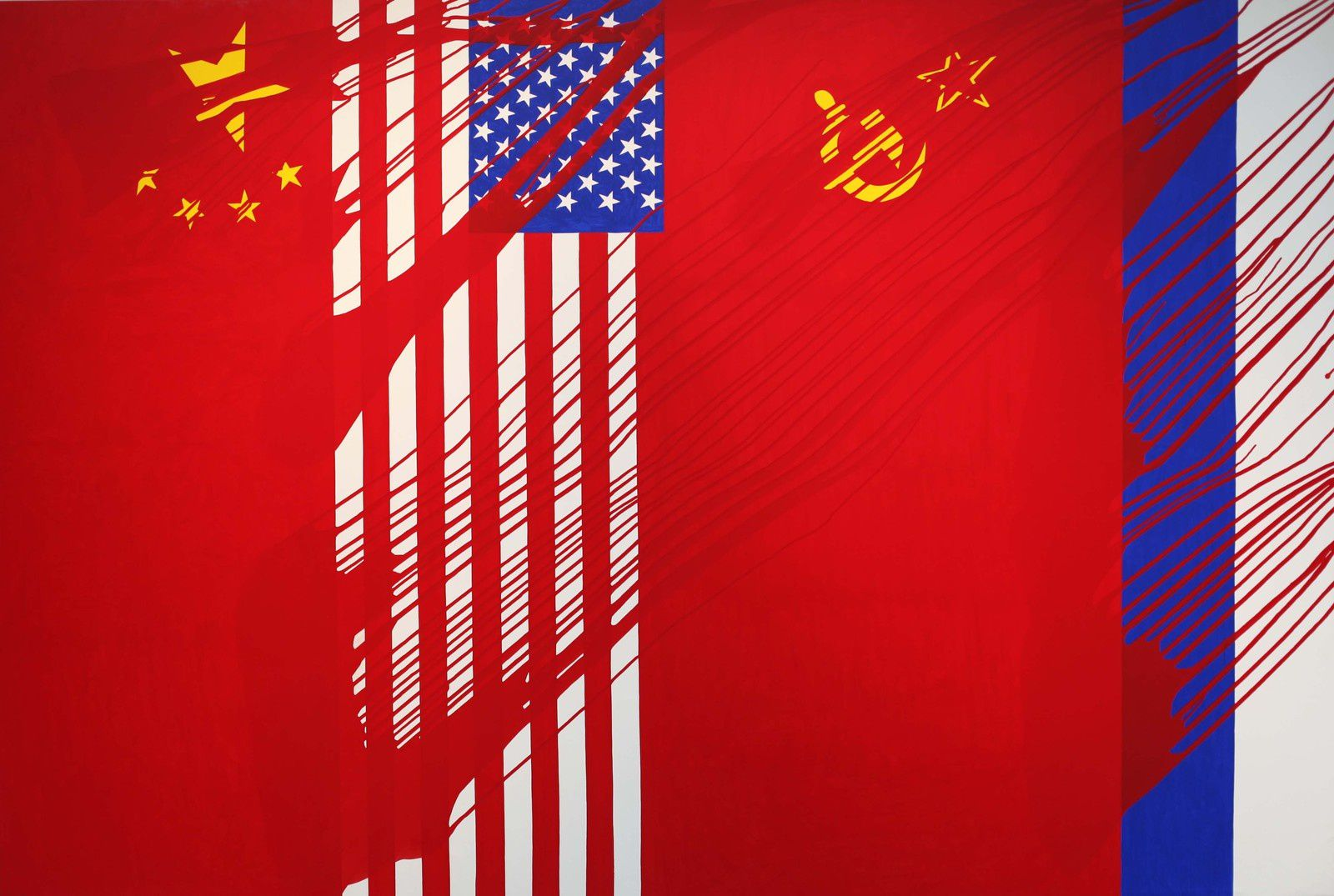 """Chine USA URSS, Russie, 1968-2014""  de Gérard FROMANGER - Courtesy Gérard FROMANGER © Photo Éric Simon"