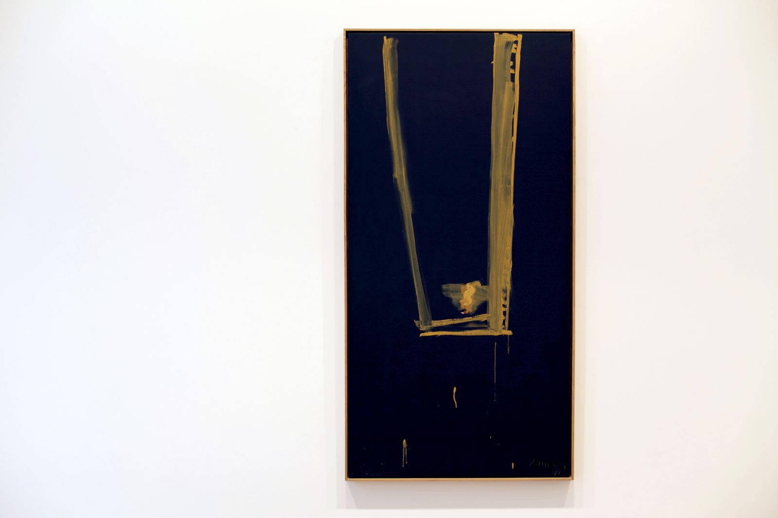 """Black open"", 1973 de Robert MOTHERWELL - Courtesy Galerie Templon © Photo Éric Simon"