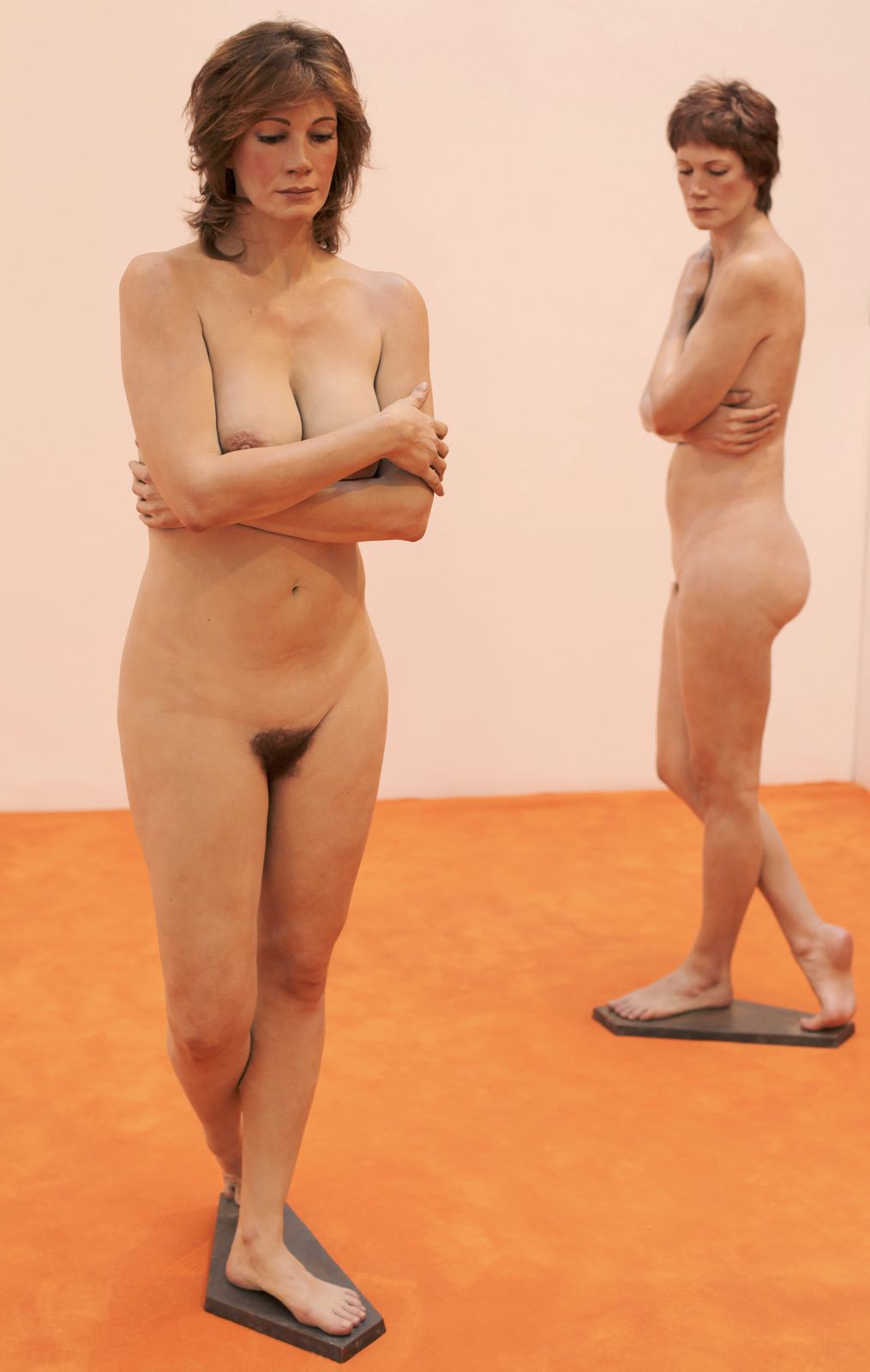 """Christine I et II"", 2011  de John DeANDREA - Courtesy Galerie Georges-Philippe & Nathalie Vallois © Photo Éric Simon"