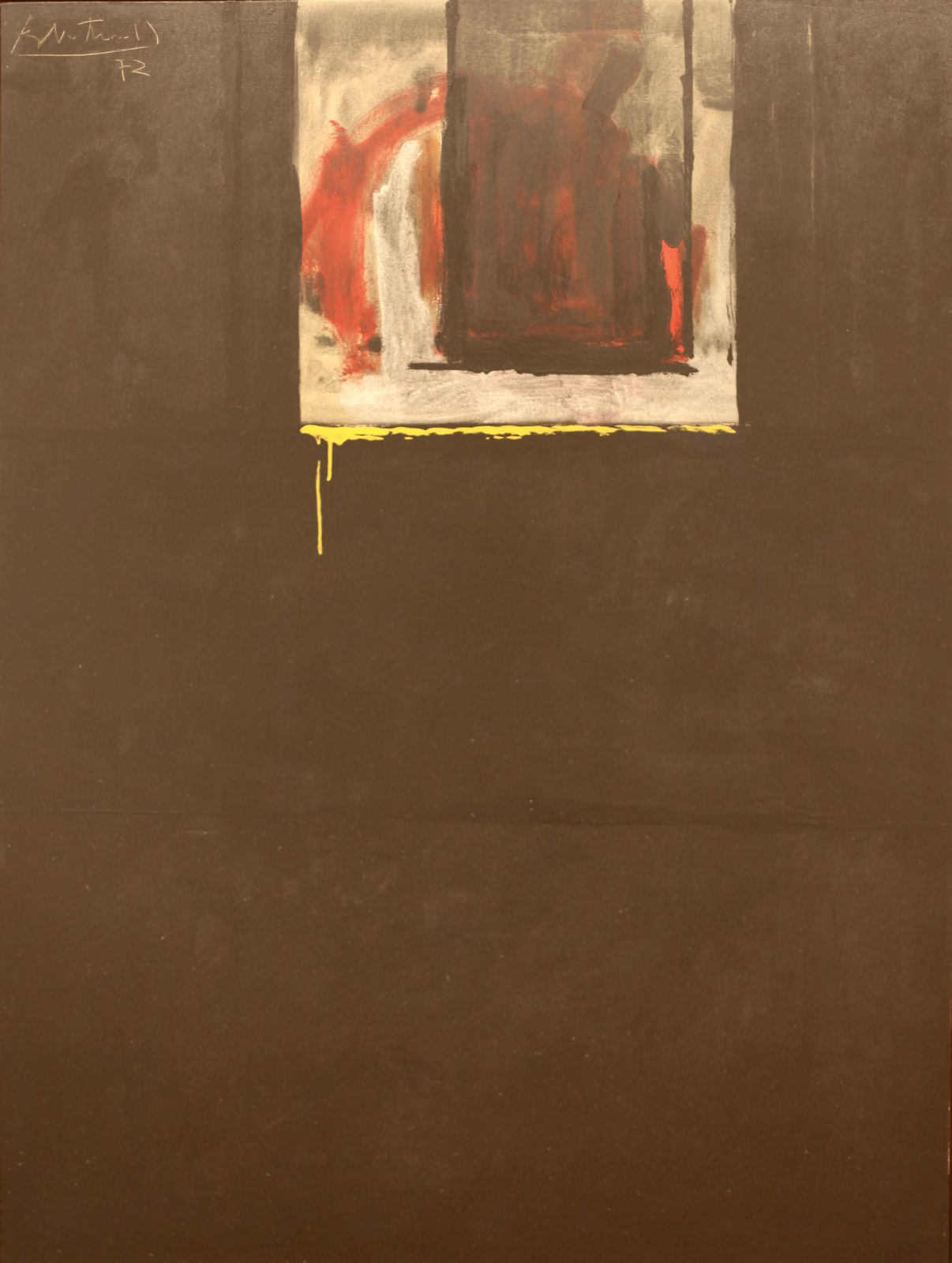 """Royal Dirge"", 1972 de Robert MOTHERWELL - Courtesy Galerie Templon © Photo Éric Simon"